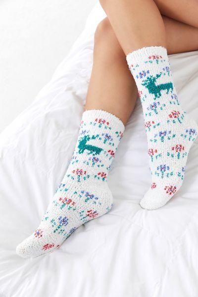 Fuzzy Fair Isle Sock