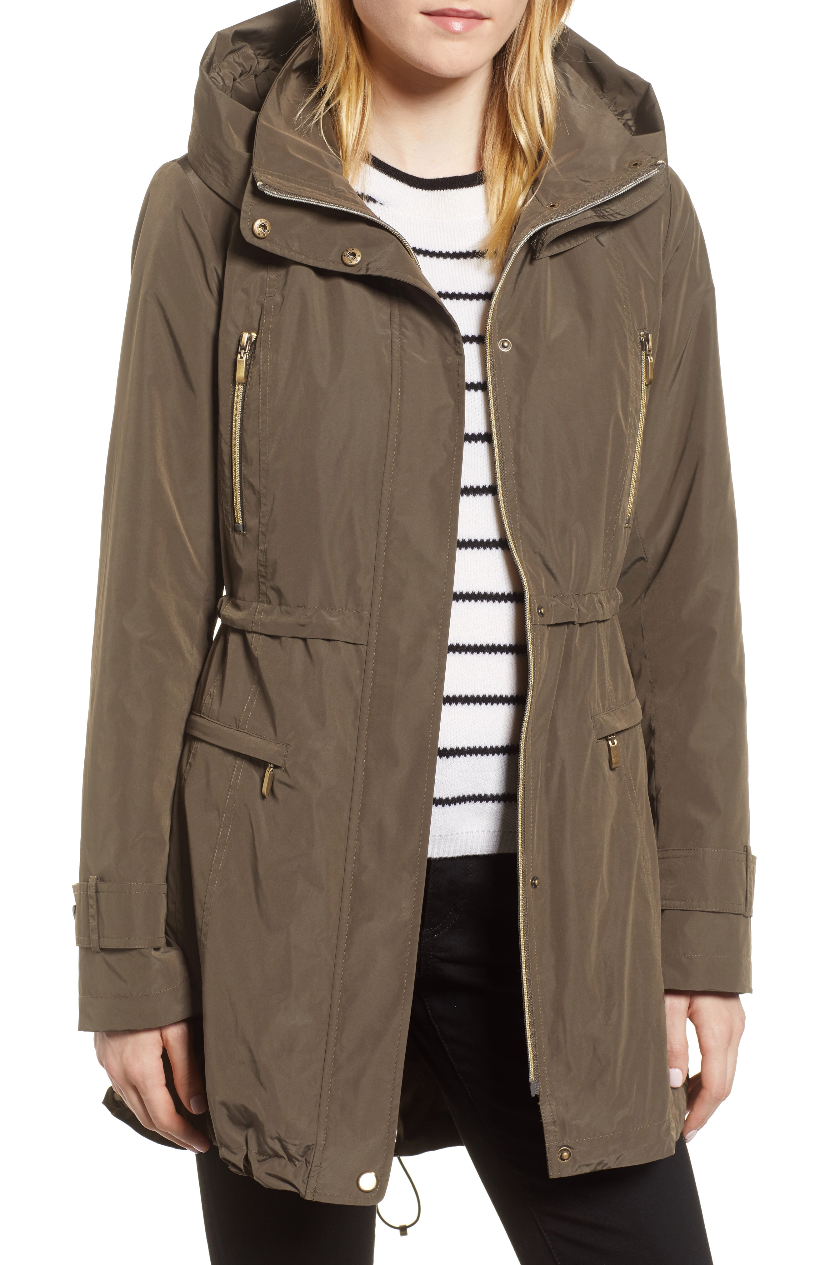 Gallery Hooded Parka with Faux Fur Liner (Regular & Petite)