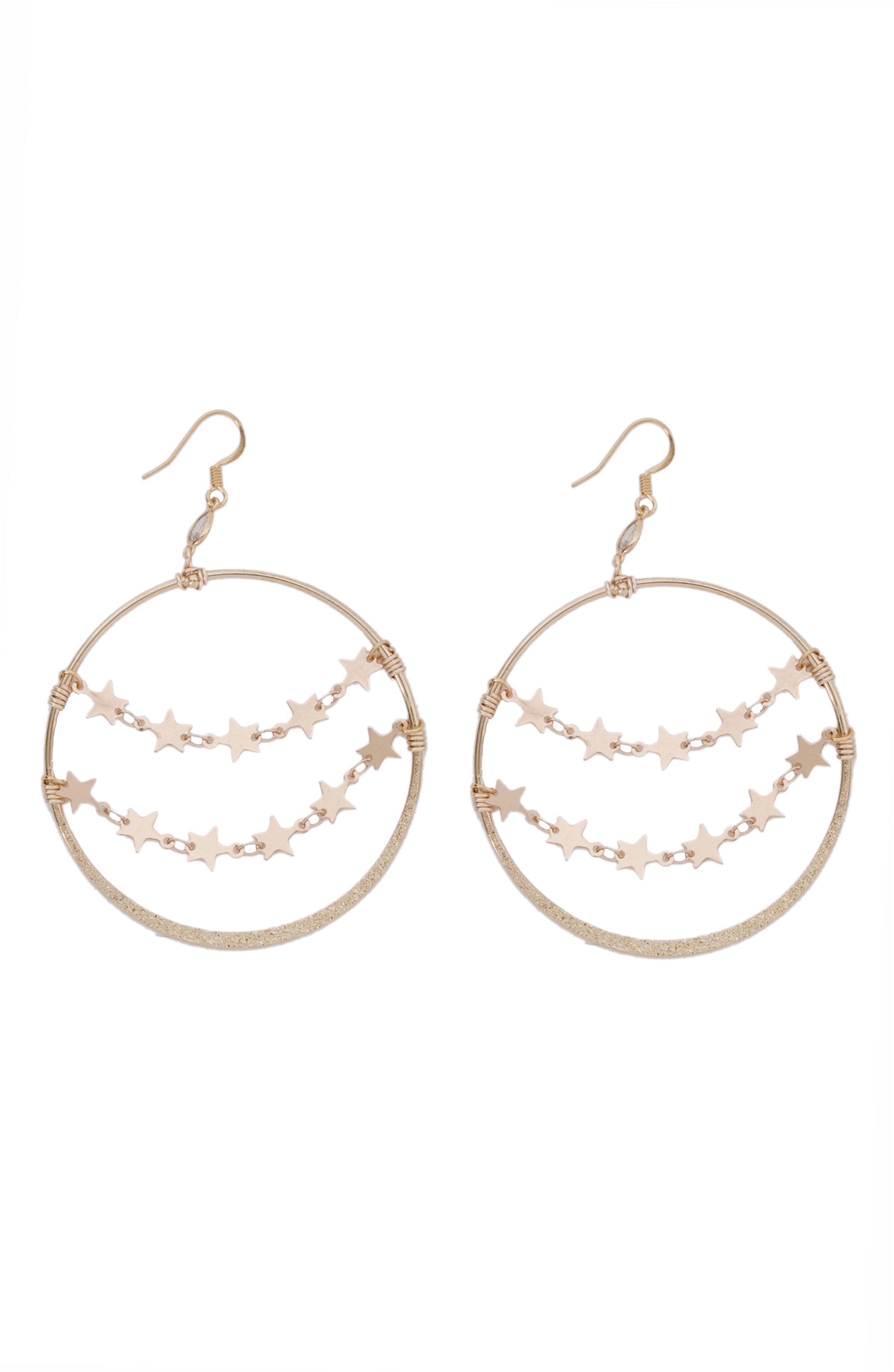 Gemelli Constellation Frontal Hoop Earrings