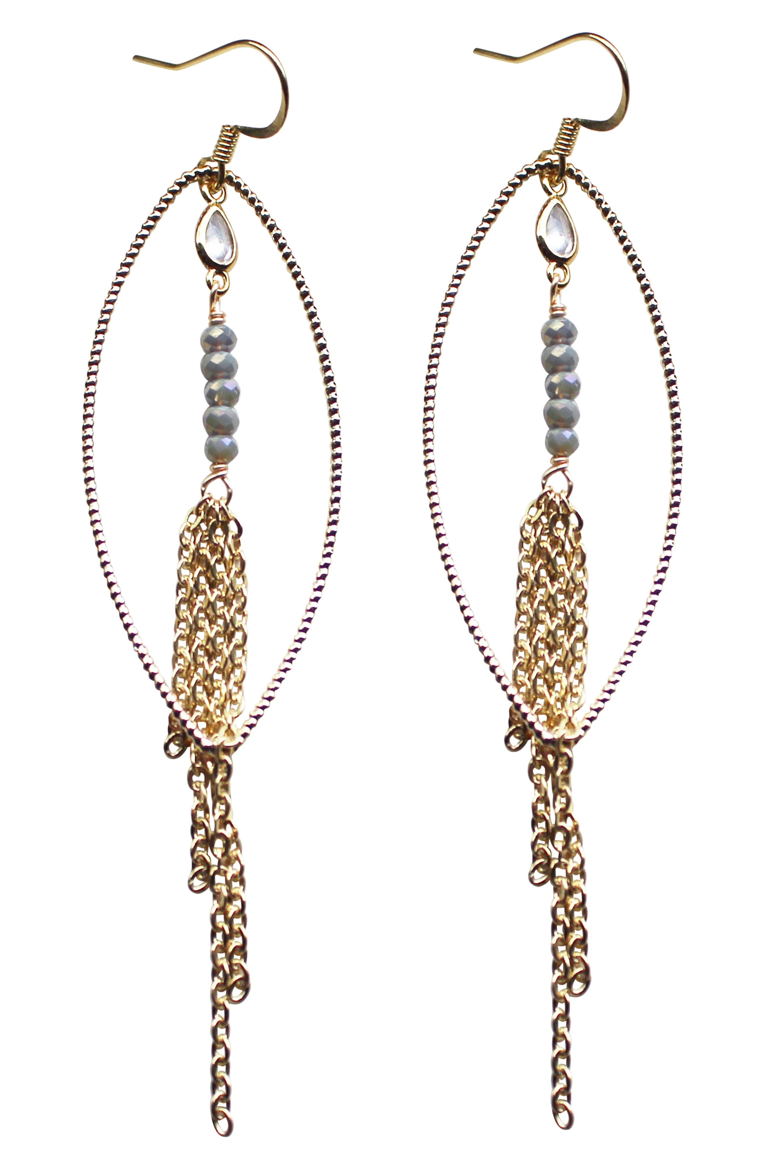 Gemelli Nina Chain Fringe Earrings