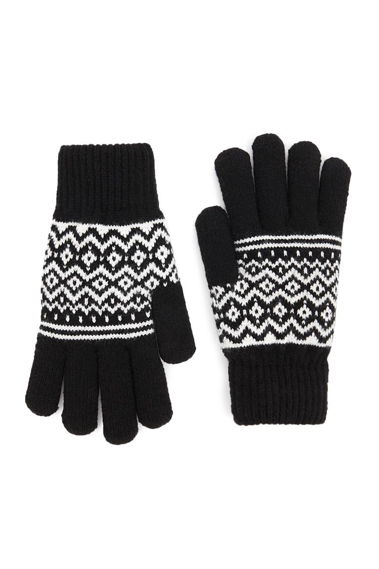 F21 Geo Print Gloves