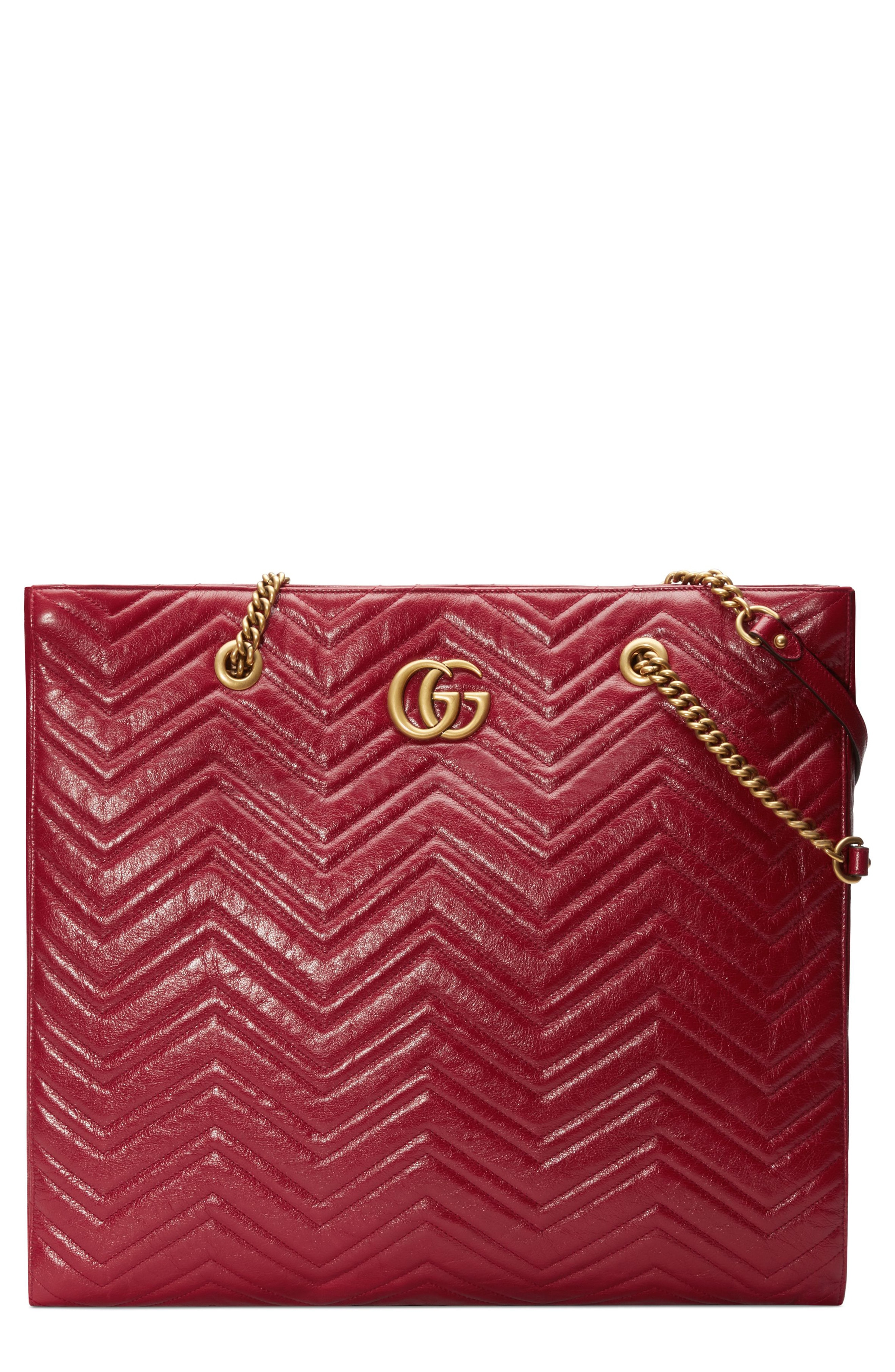Gucci GG Marmont 2.0 Matelass Leather North/South Tote Bag