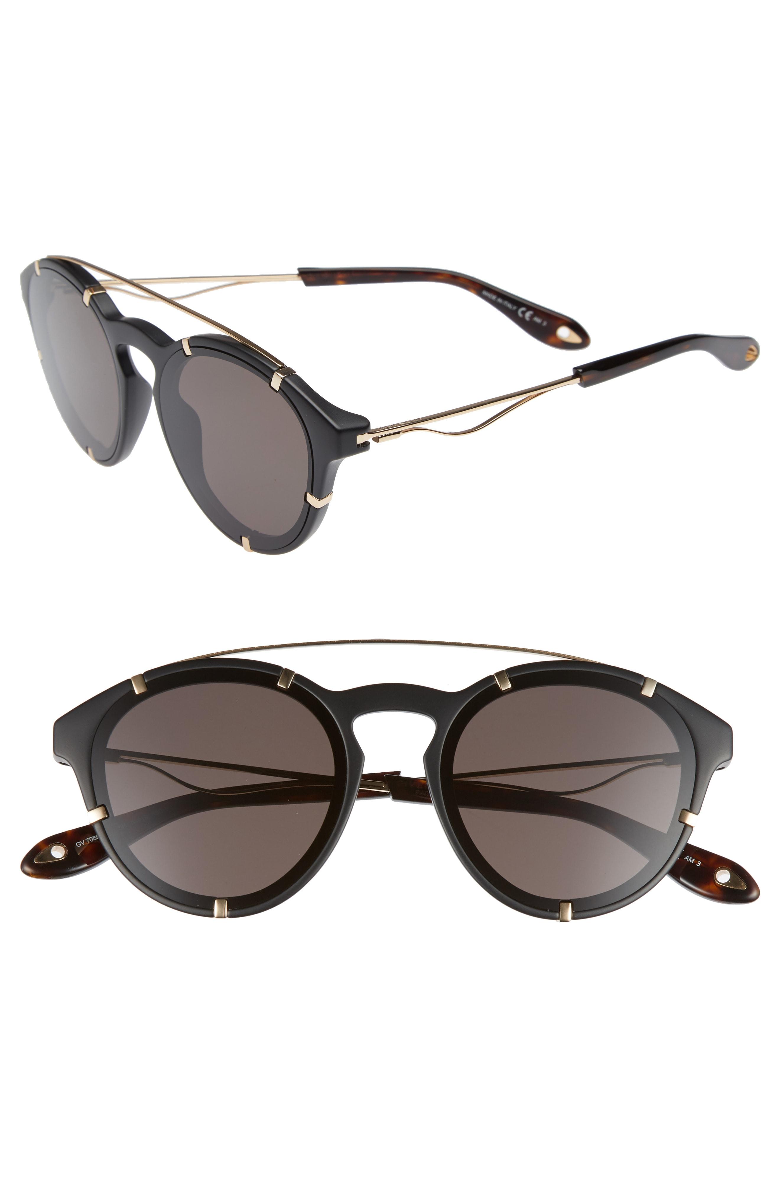 Givenchy 54mm Round Polarized Sunglasses
