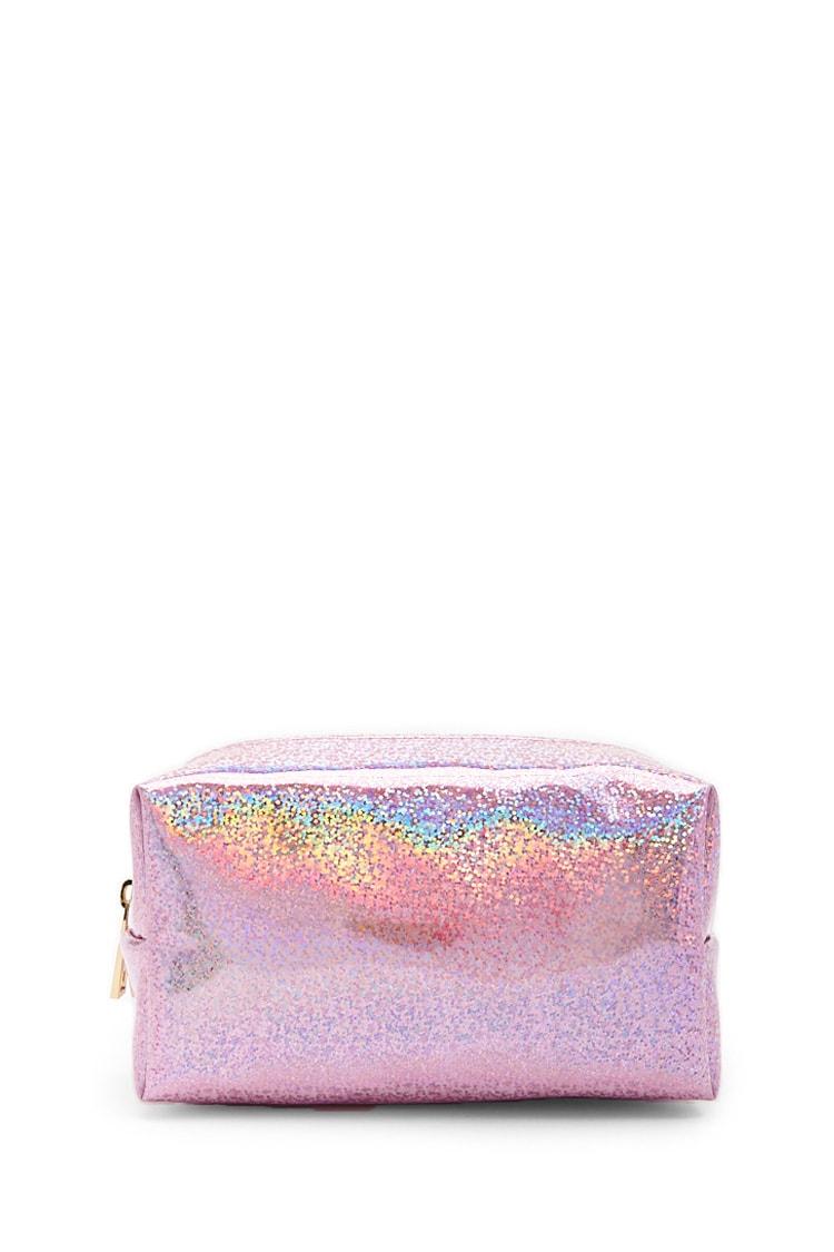 F21 Glittered Makeup Bag