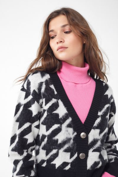 Gretchin Houndstooth Cropped Cardigan