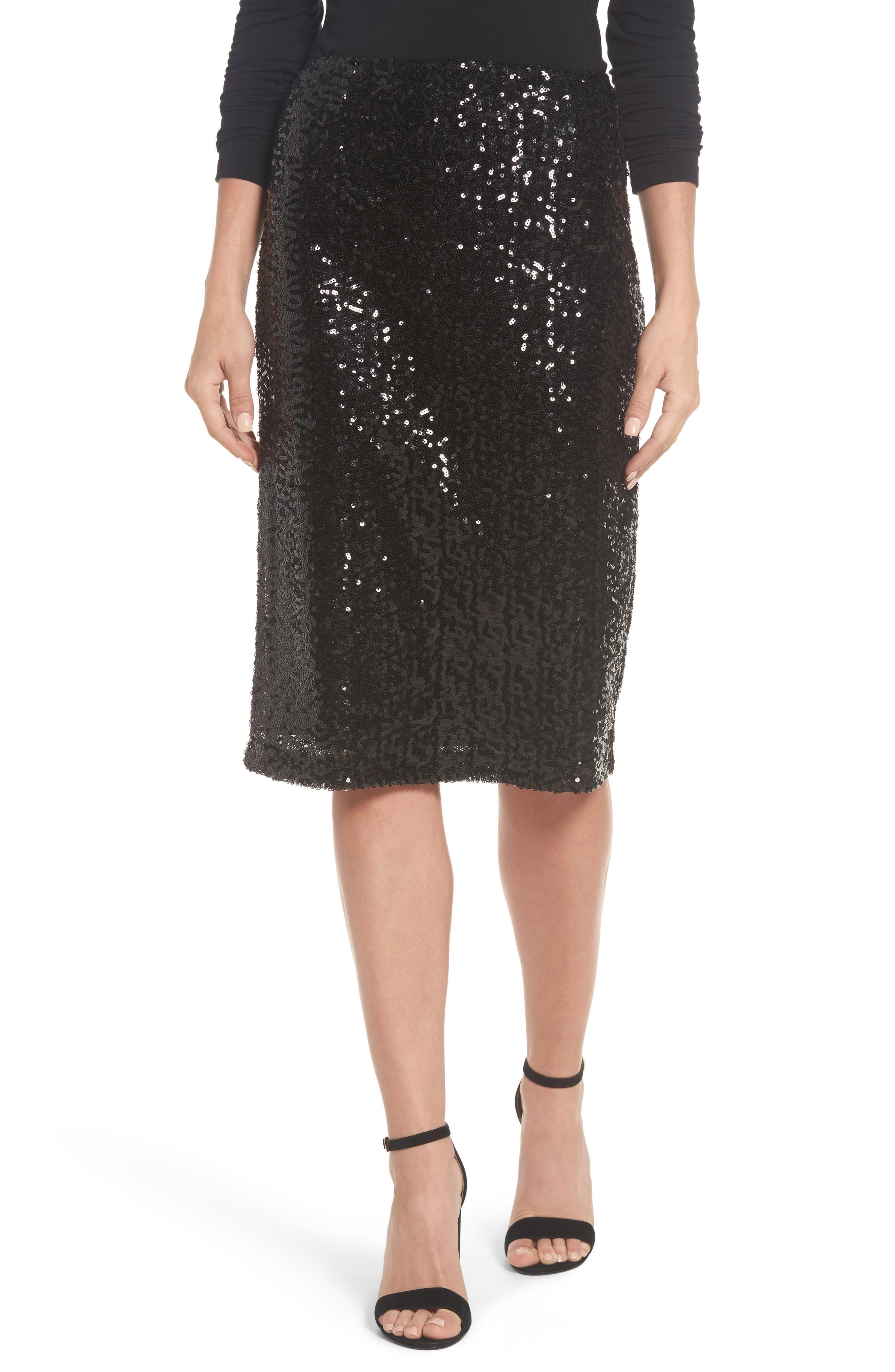 Halogen Sequin Pencil Skirt (Regular & Petite)