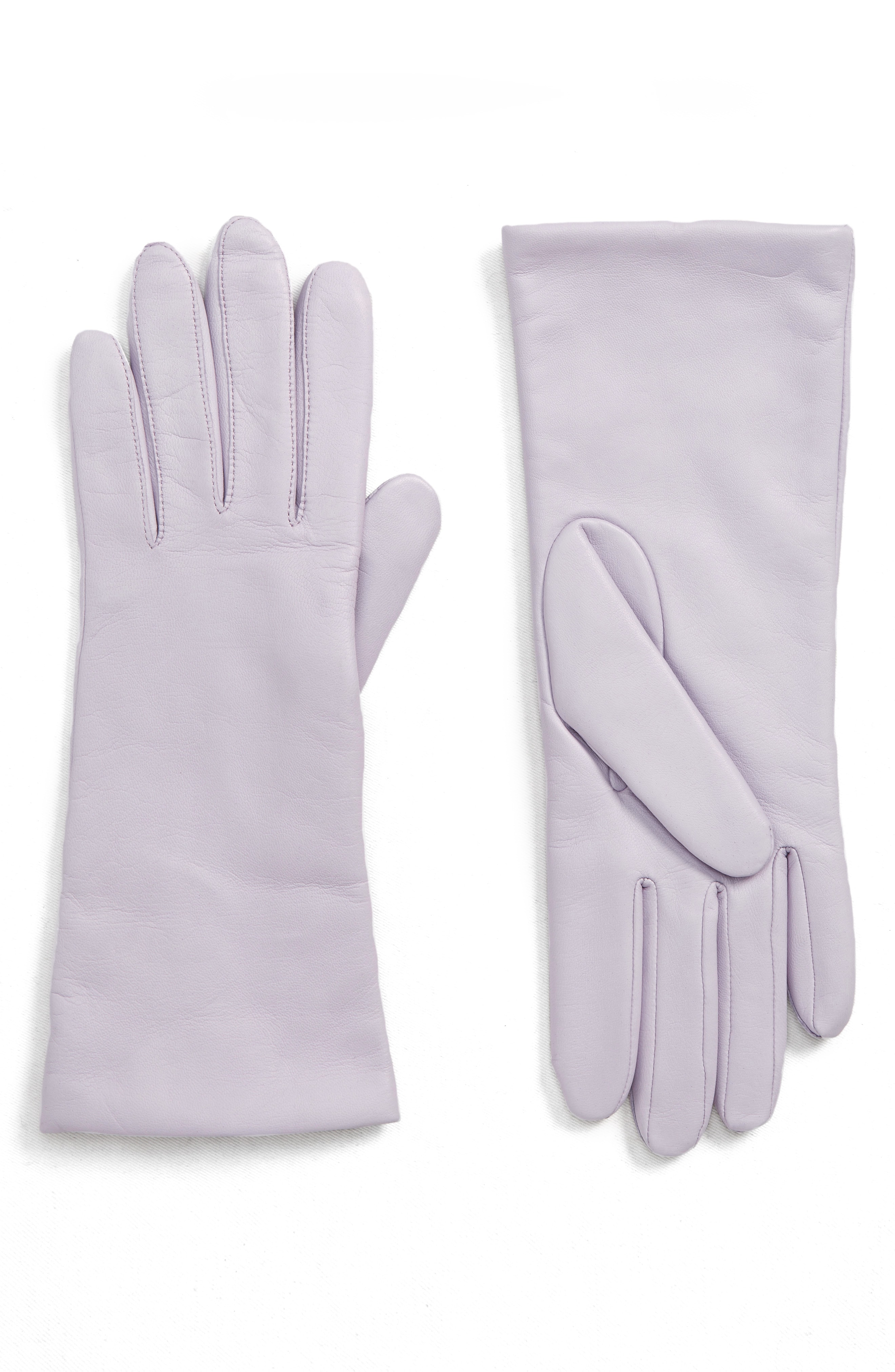 Halogen x Atlantic-Pacific Cashmere Lined Leather Gloves