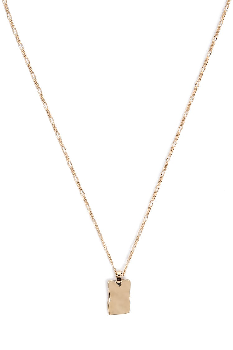 F21 Hammered Pendant Necklace