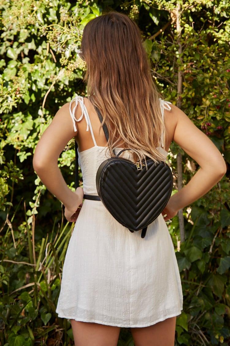 F21 Heart Shaped Backpack