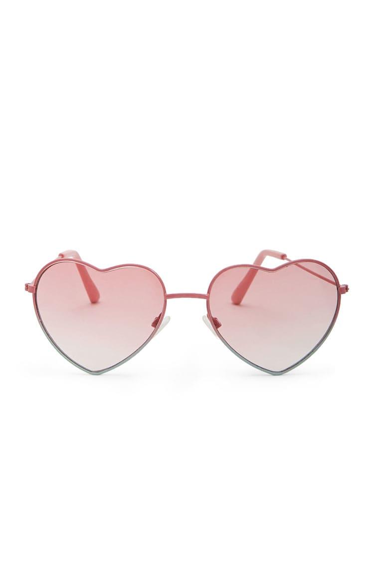 F21 Heart Tinted Sunglasses