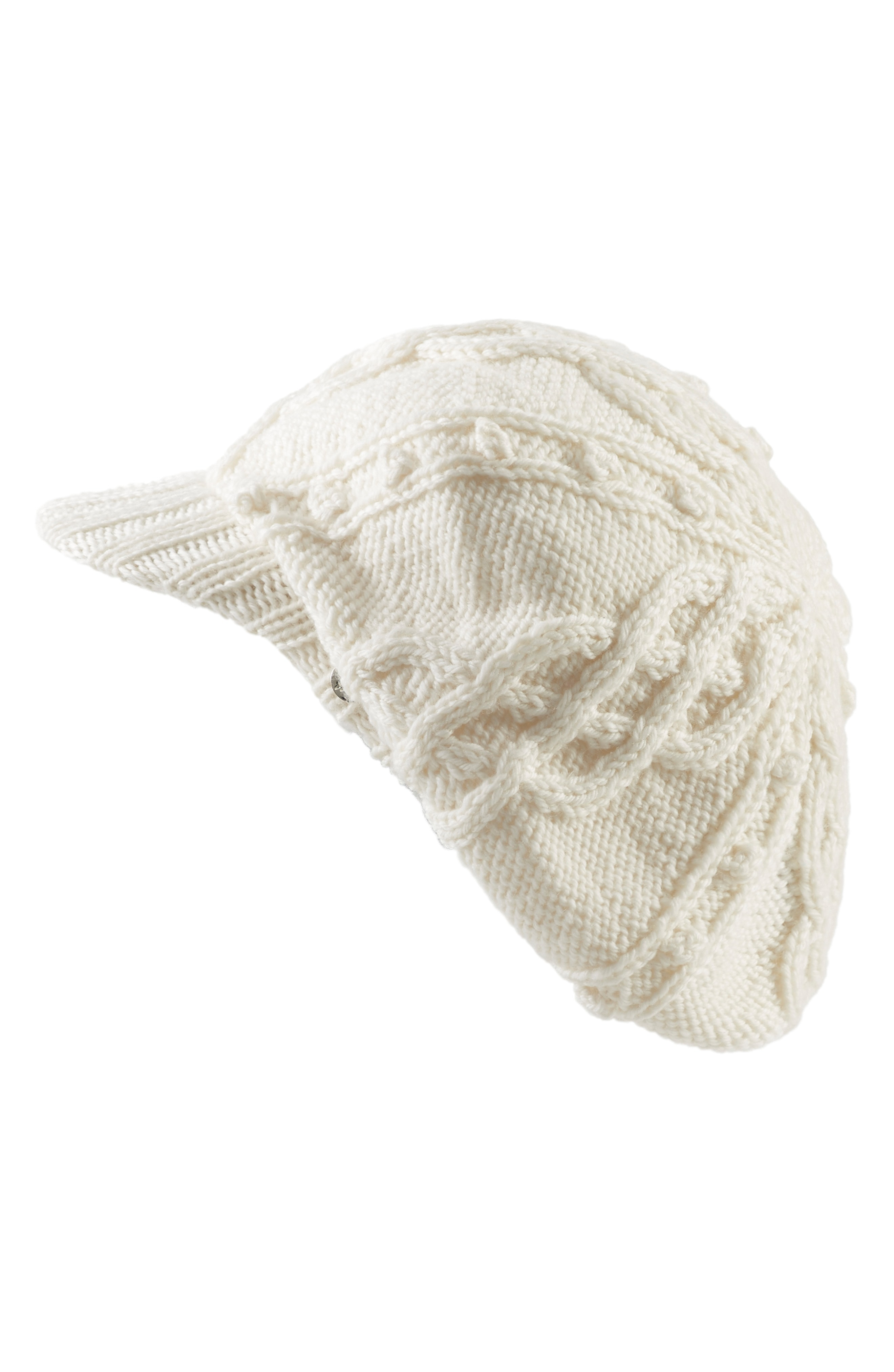 Helen Kaminski Knit Merino Wool Baker Boy Cap