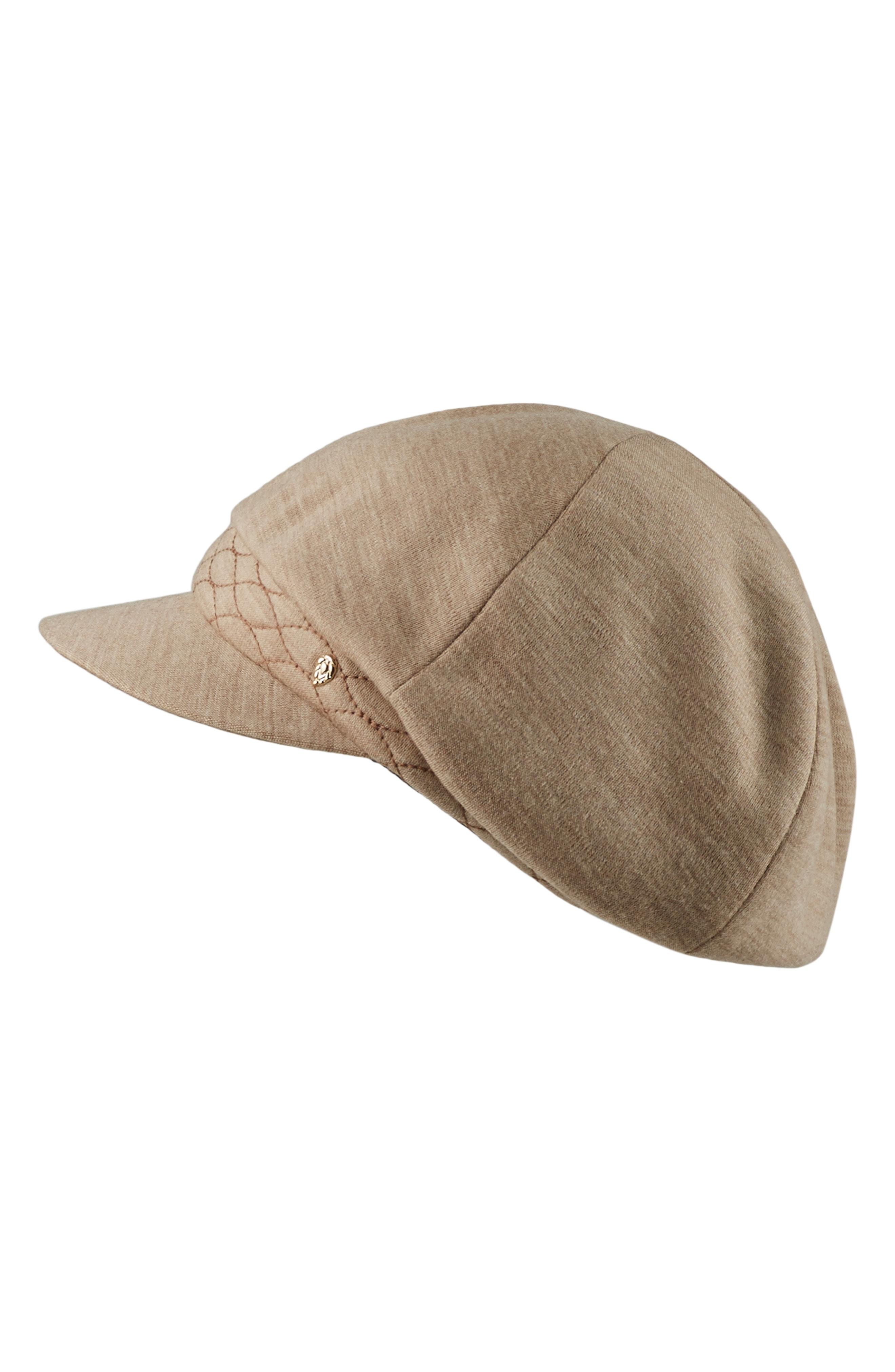Helen Kaminski Wool Jersey Baker Boy Cap