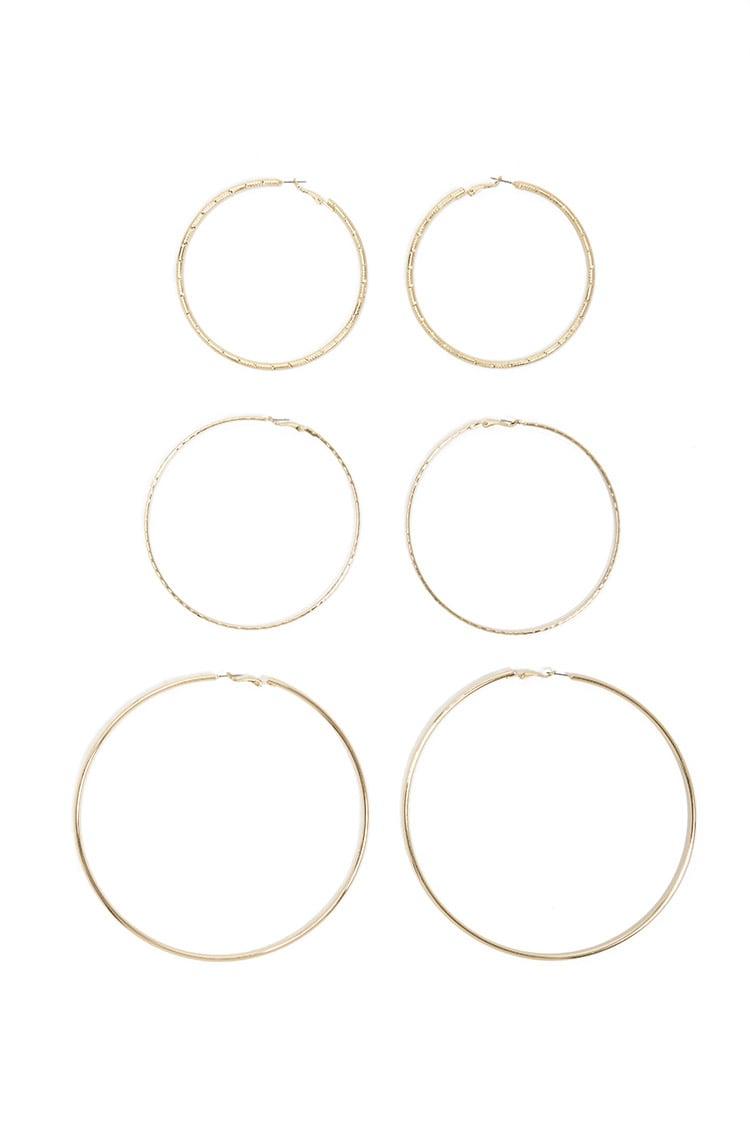 F21 Hoop Earrings Set