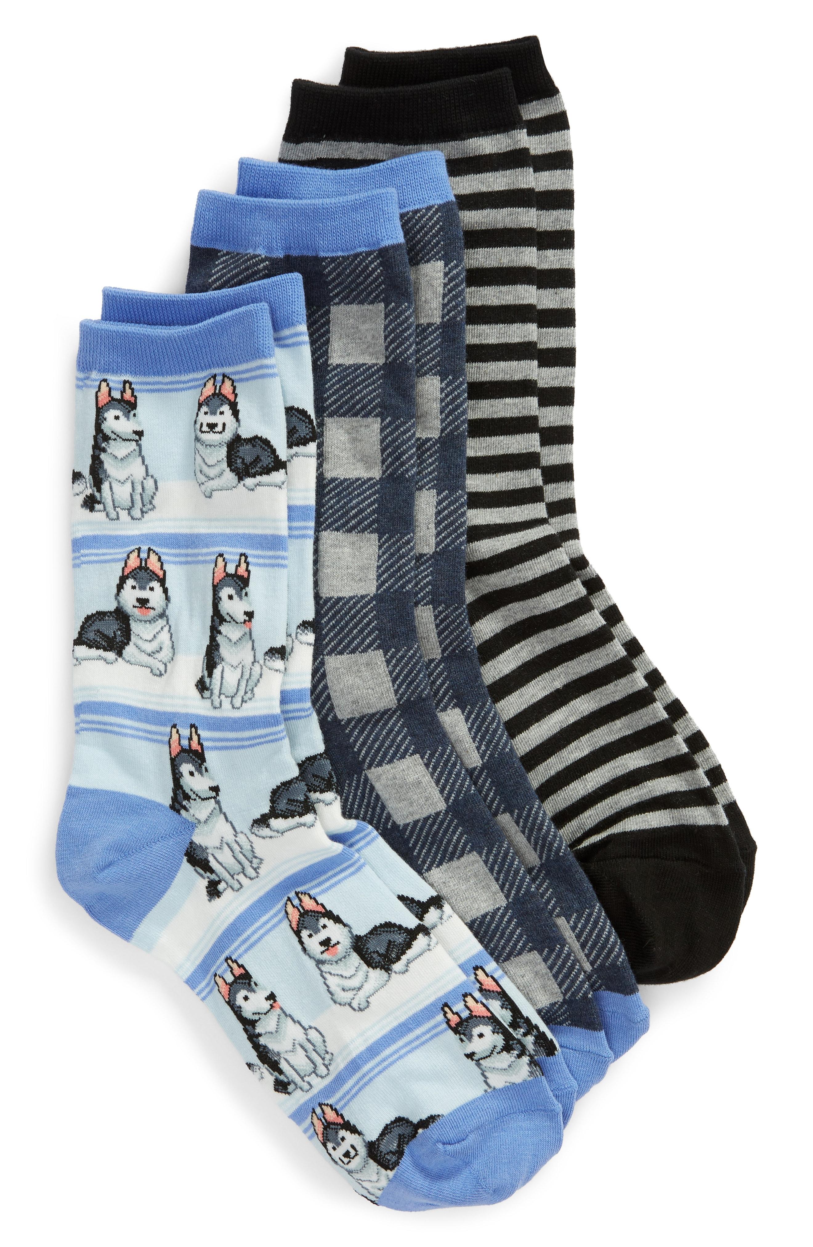 Hot Sox 3-Pack Husky Socks