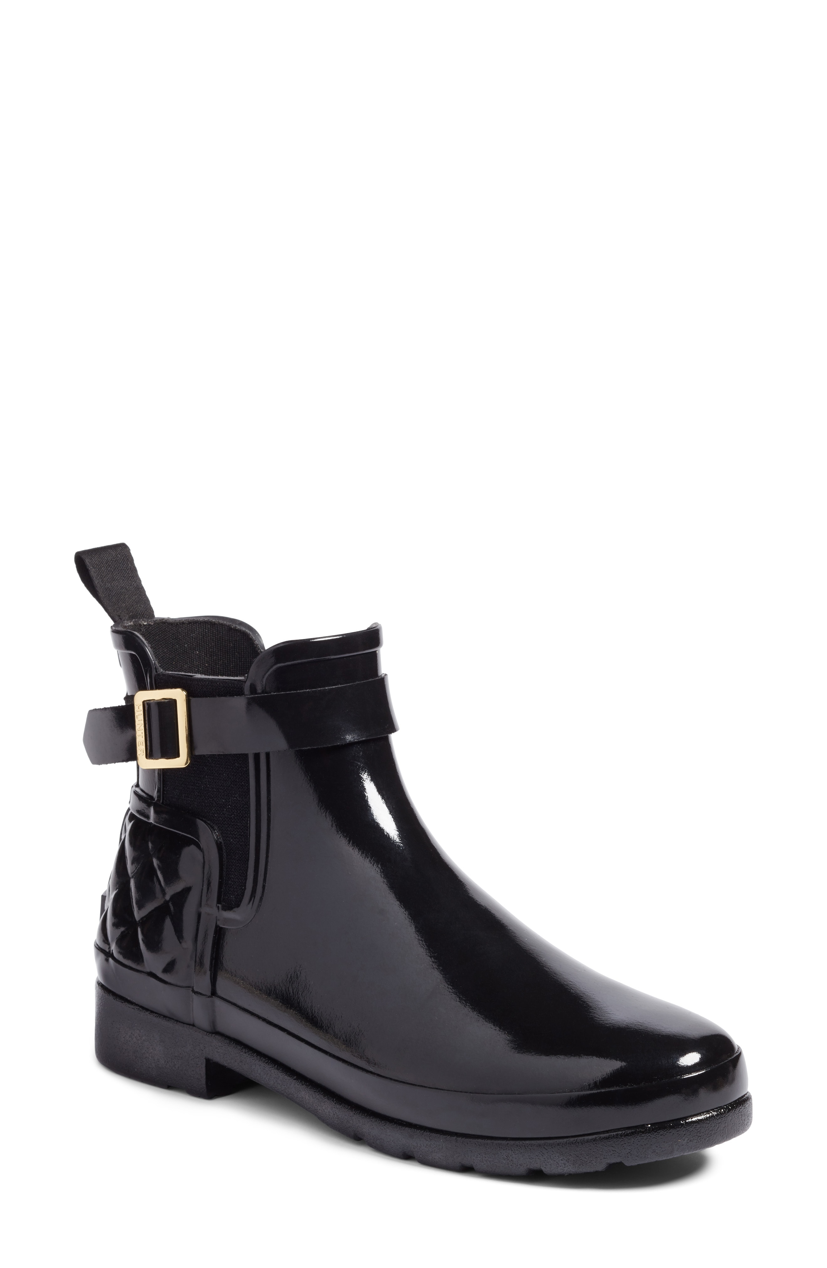 Hunter Original Refined Quilted Gloss Chelsea Boot (Women)