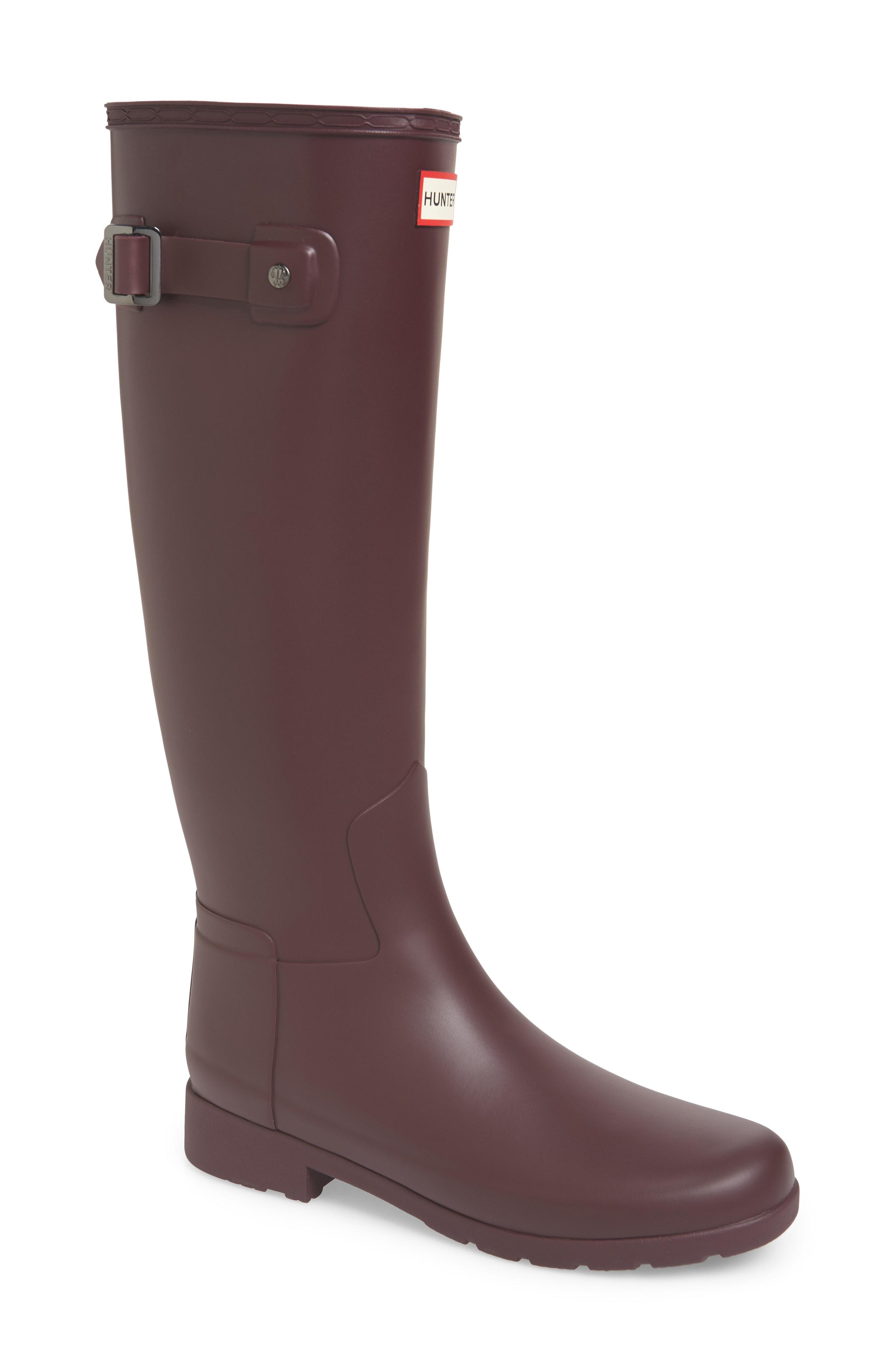 Hunter Original Refined Rain Boot (Women) (Regular & Extended Calf)