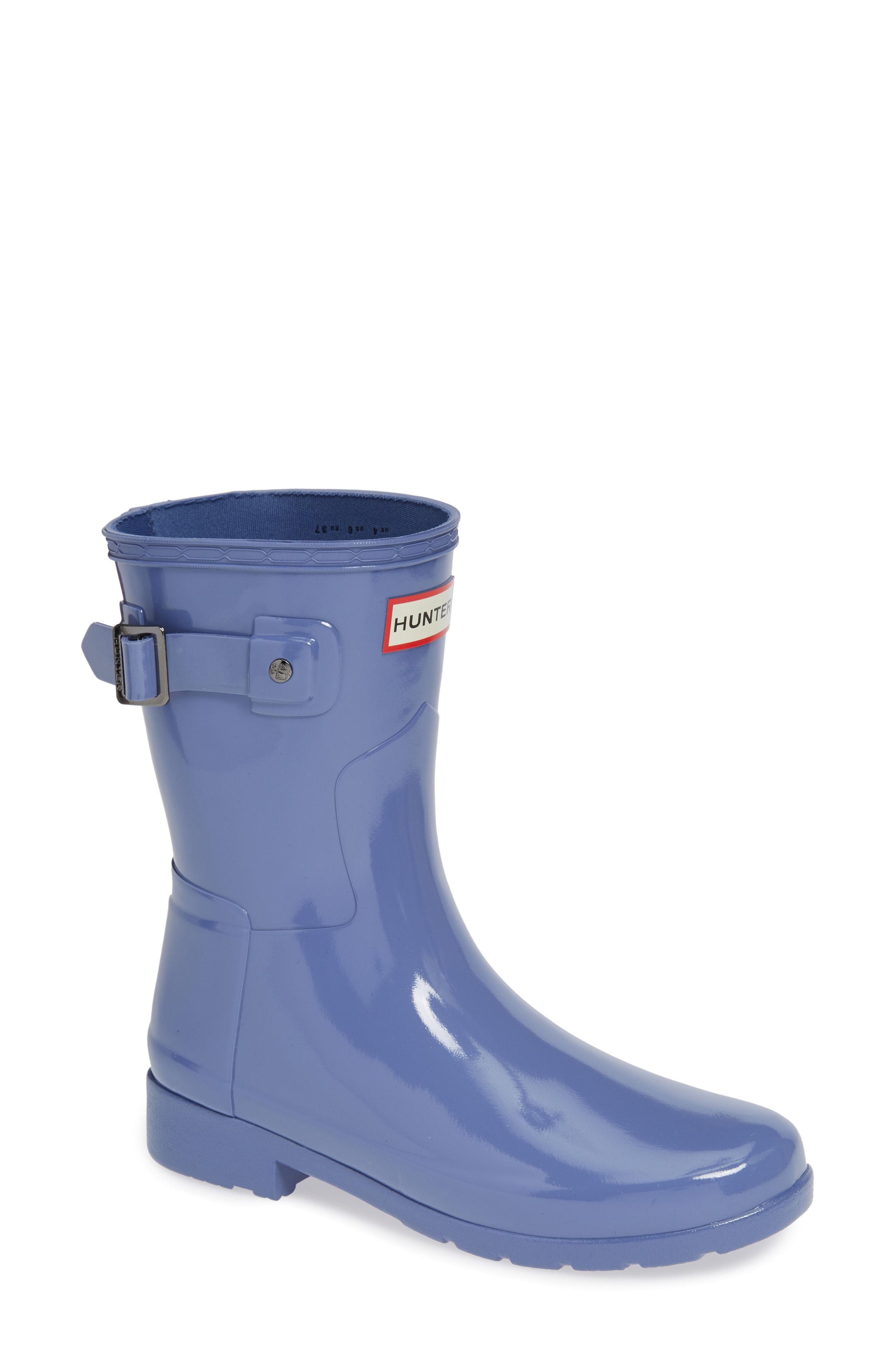 Hunter Refined Short Gloss Rain Boot (Women)