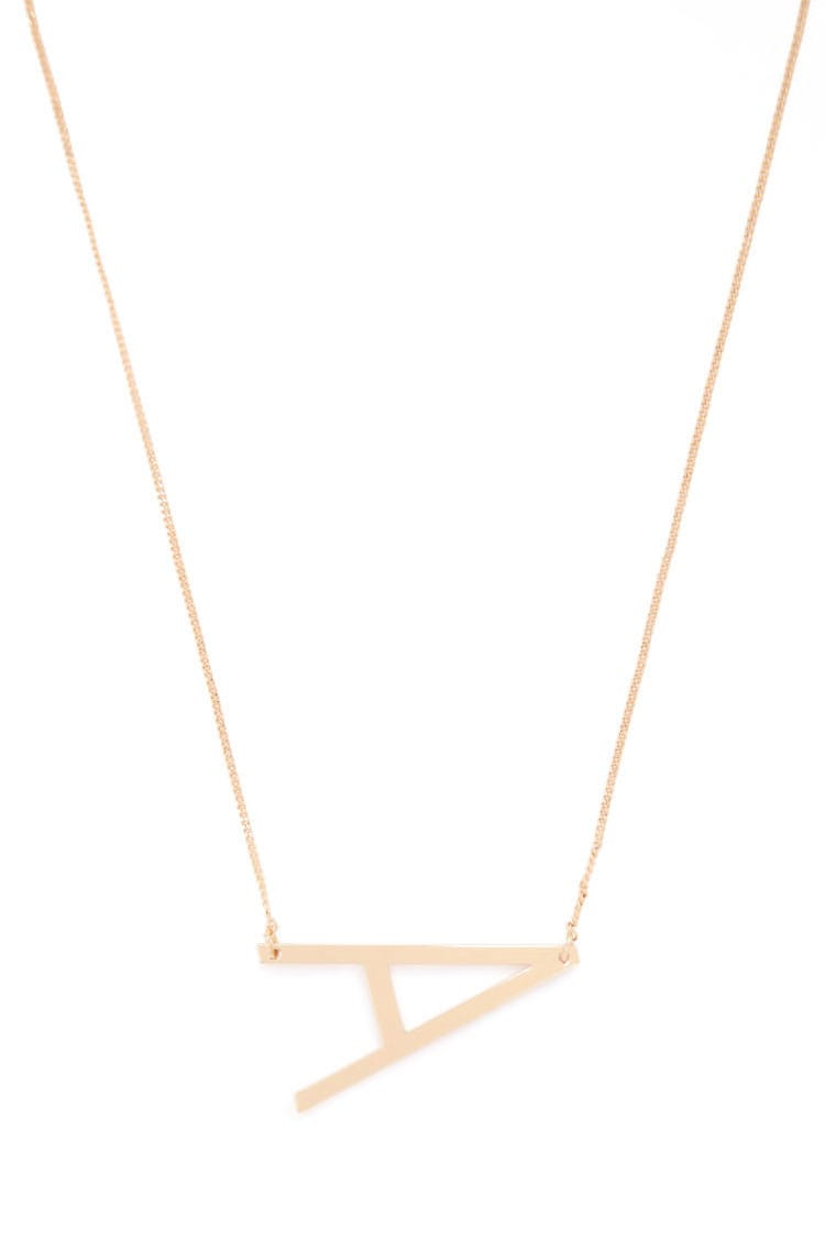 F21 Initial Pendant Necklace