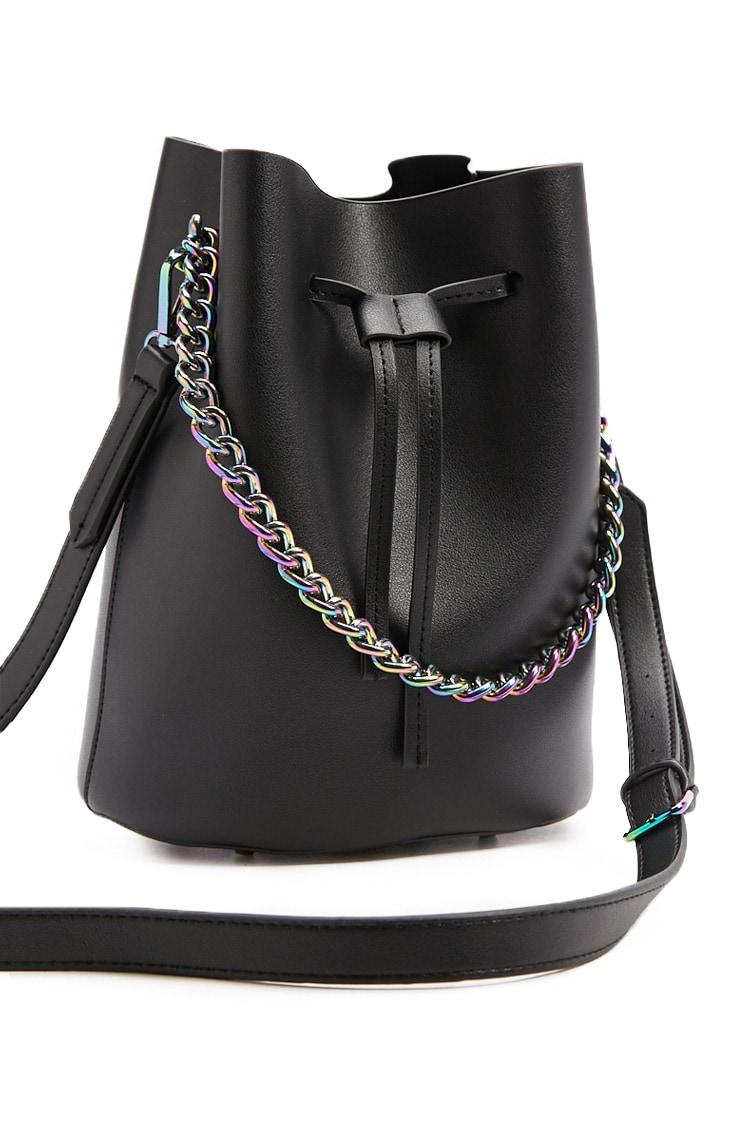 F21 Iridescent Bucket Bag