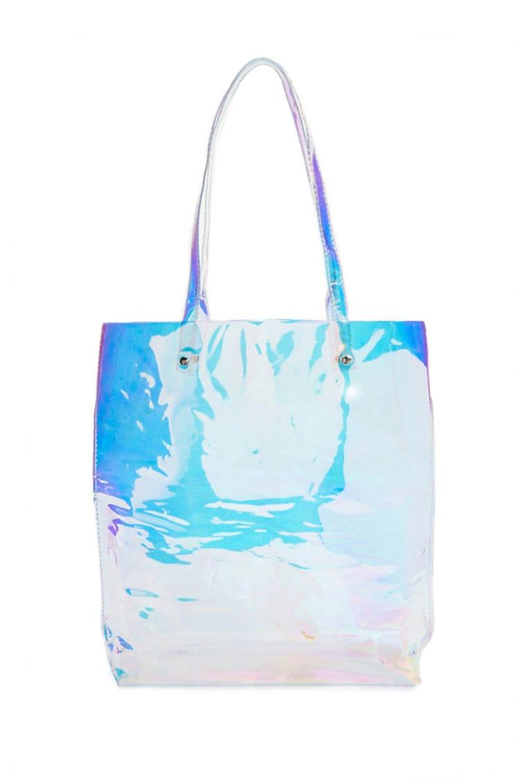 F21 Iridescent Tote Bag
