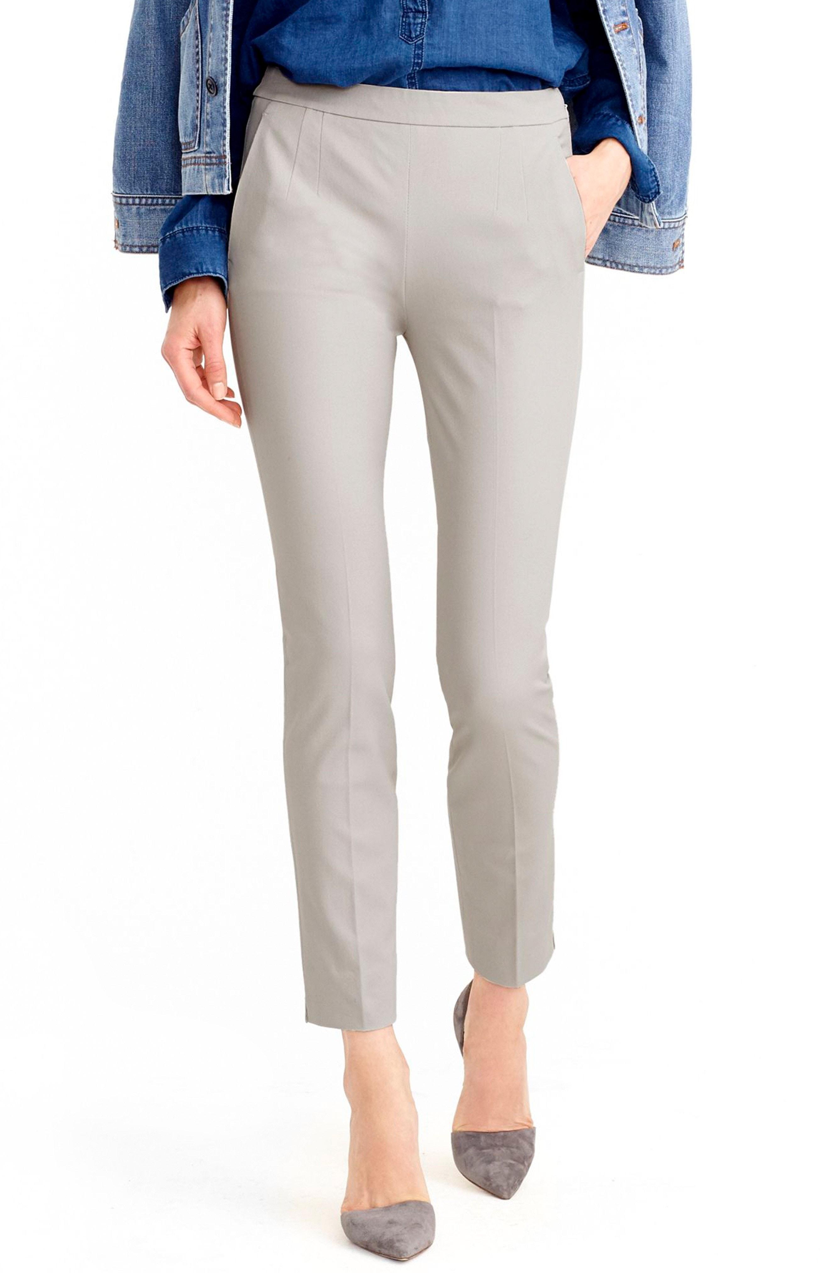 J.Crew Martie Cotton Blend Pants (Regular & Petite)