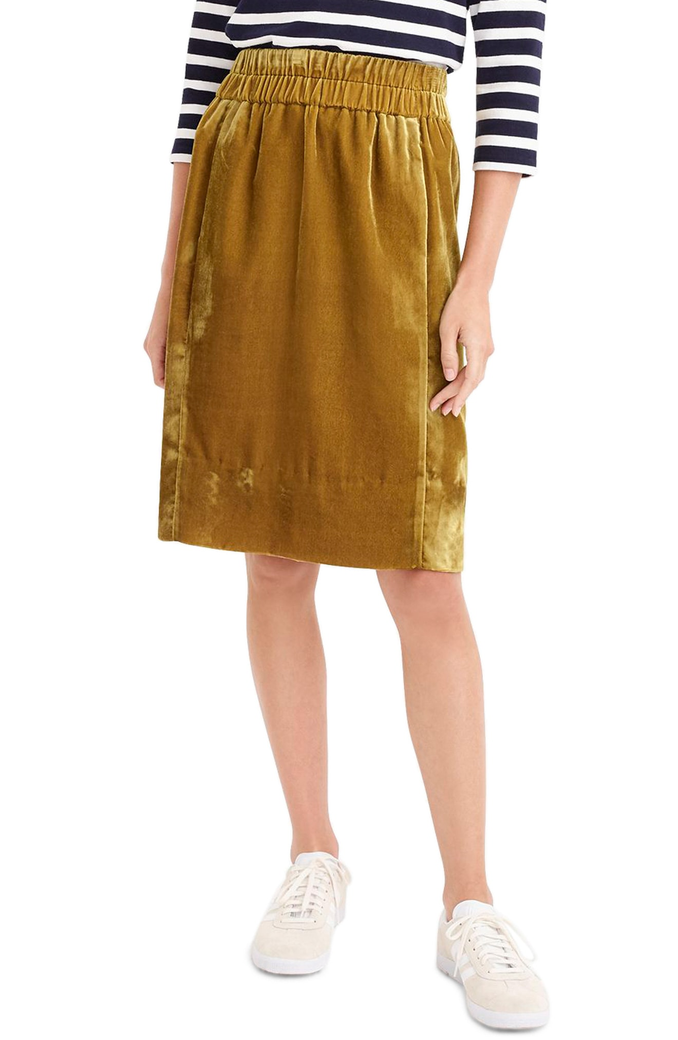 J.Crew Pull-On Velvet Skirt (Regular, Petite & Plus Size)