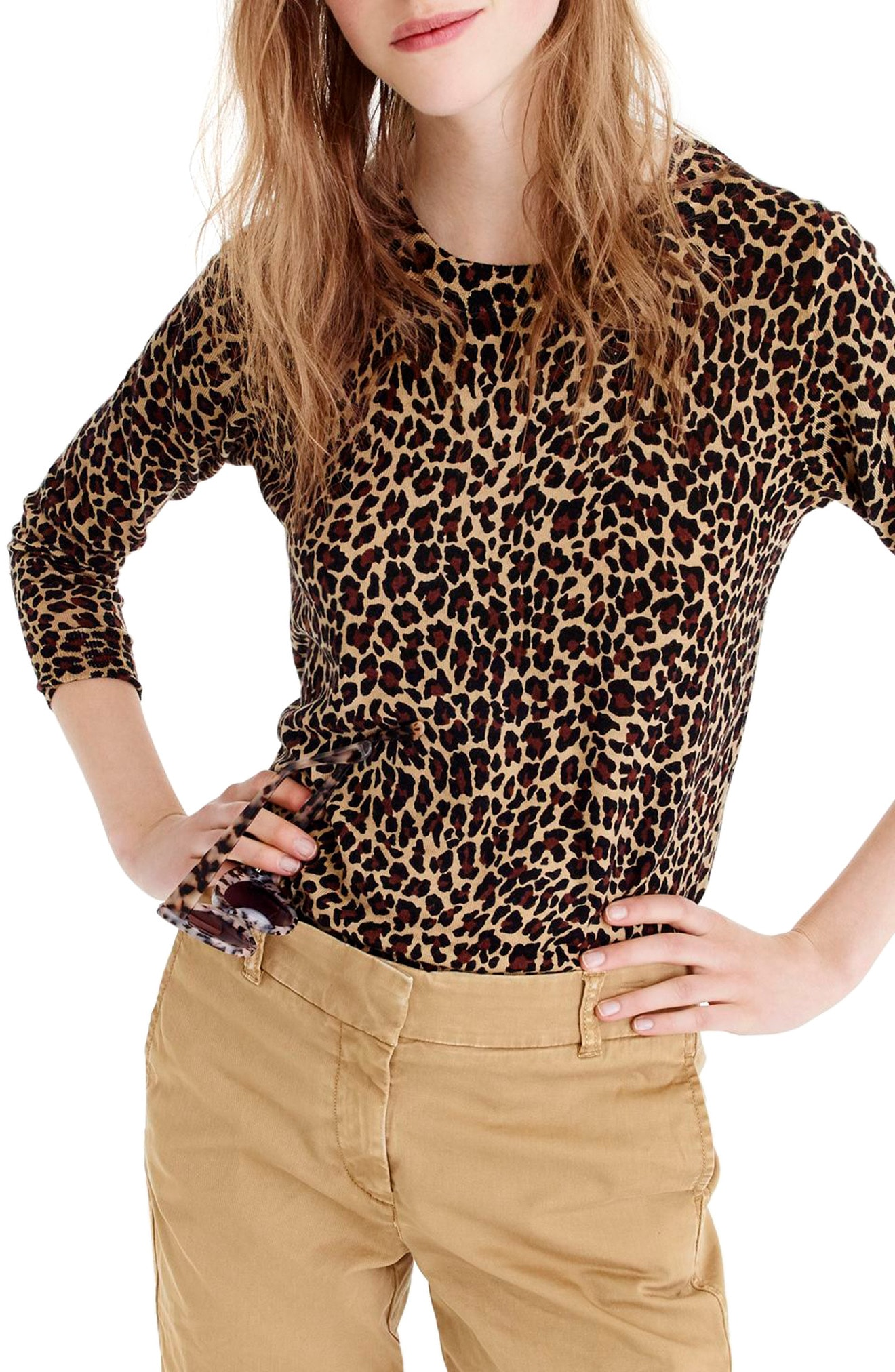 J.Crew Tippi Leopard Print Sweater (Regular & Plus Size)