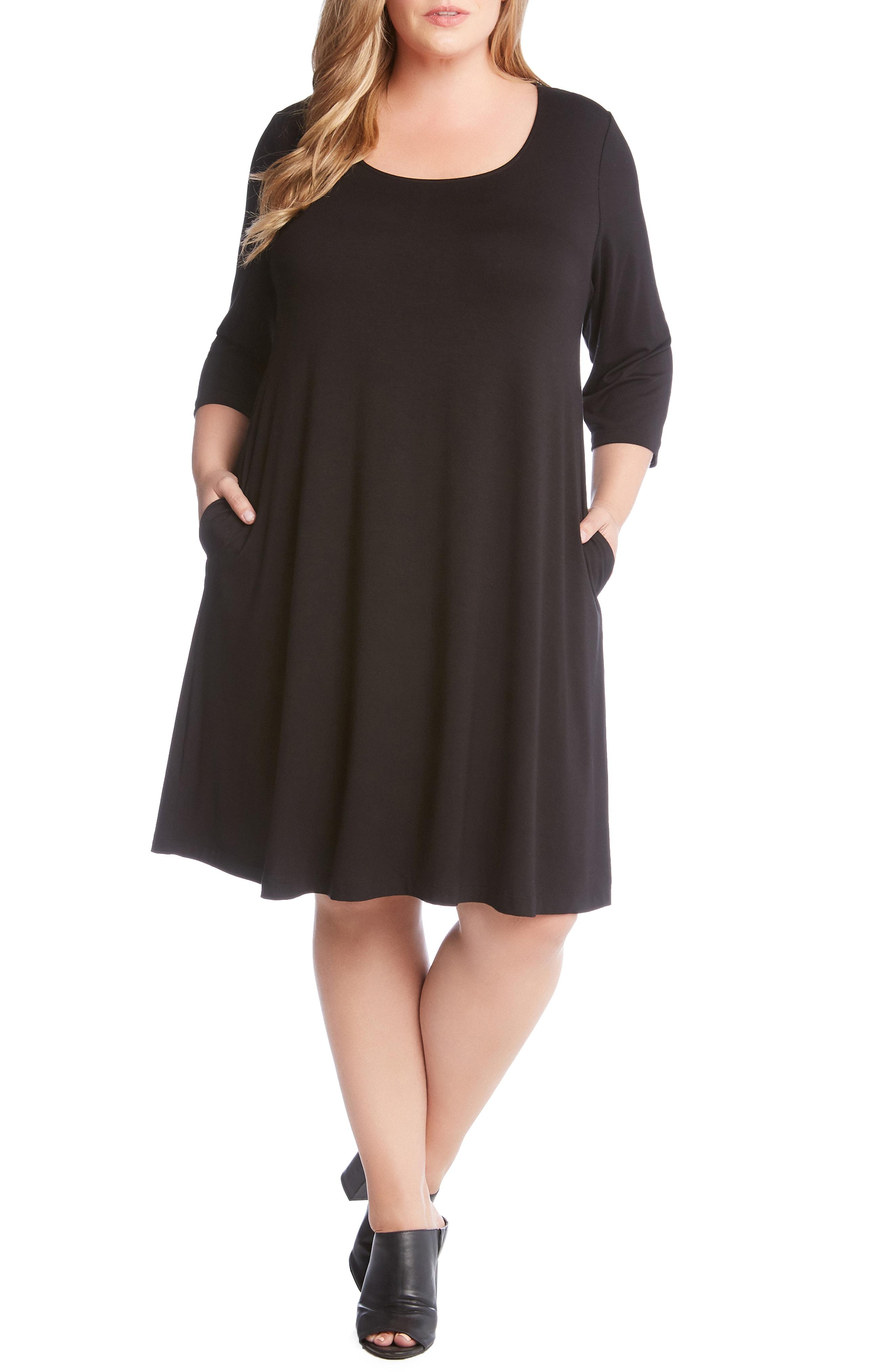 Karen Kane Chloe A-Line Dress (Plus Size)