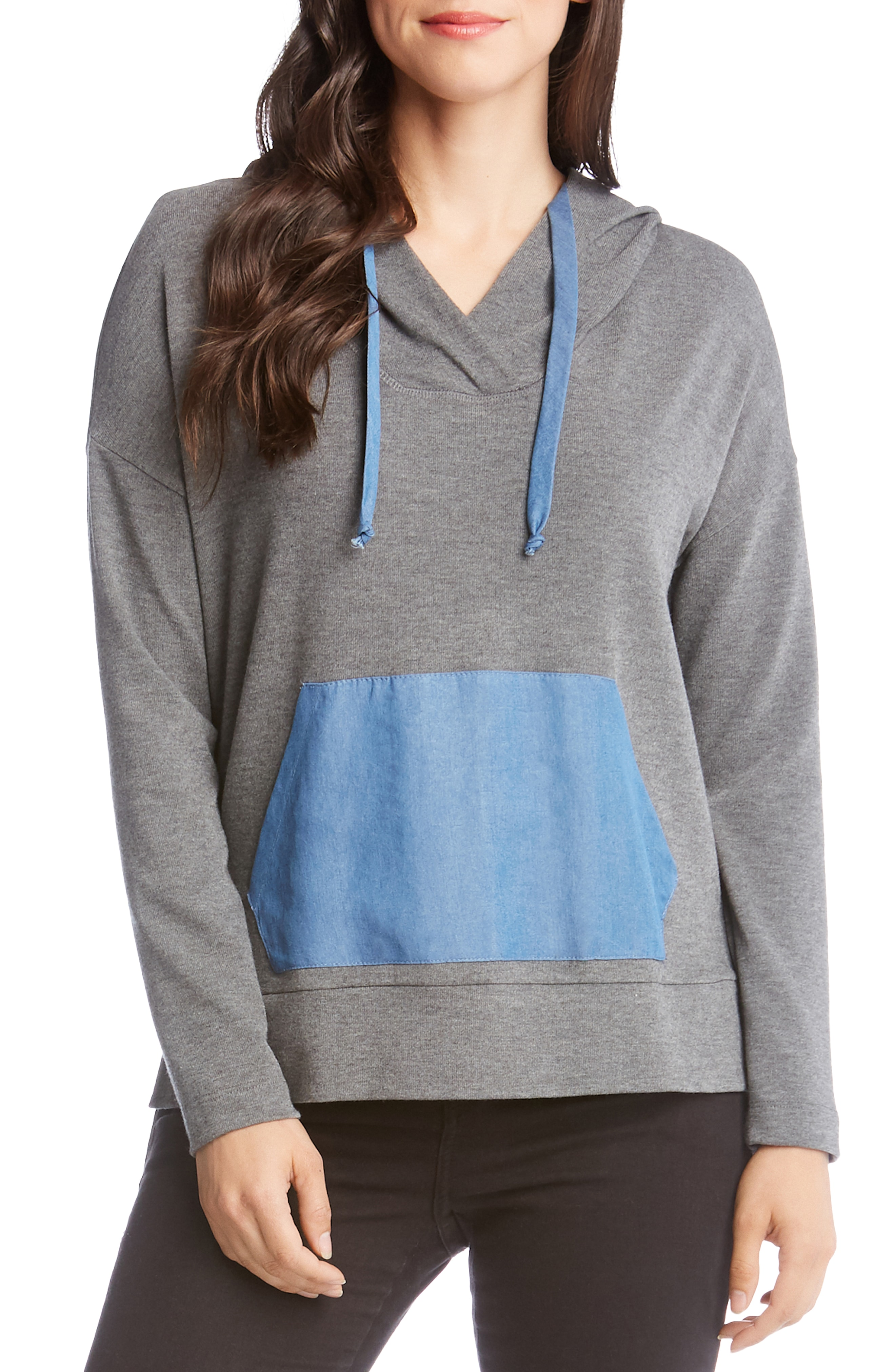 Karen Kane Contrast Hooded Sweater