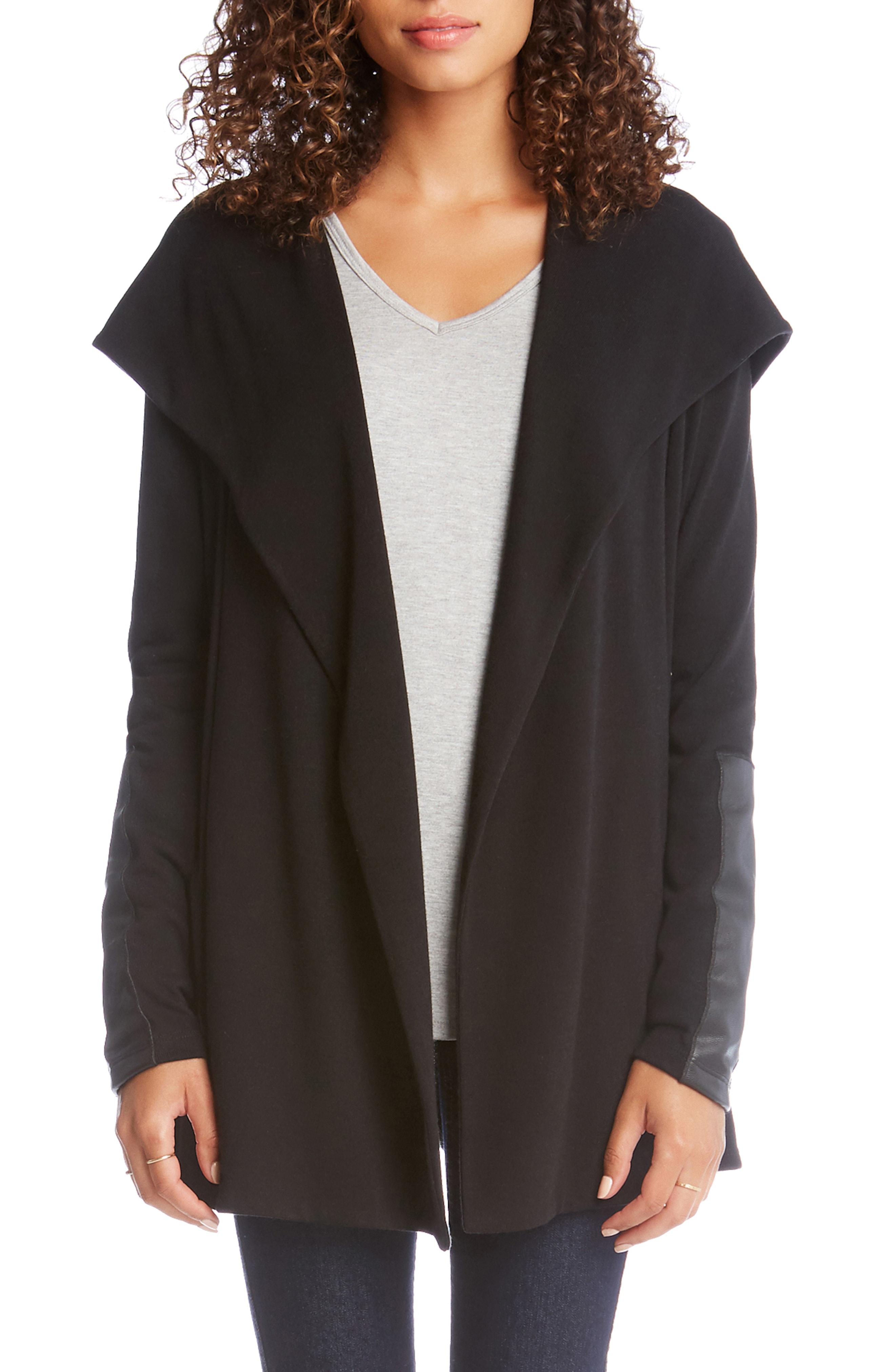 Karen Kane Faux Leather Detail Jacket