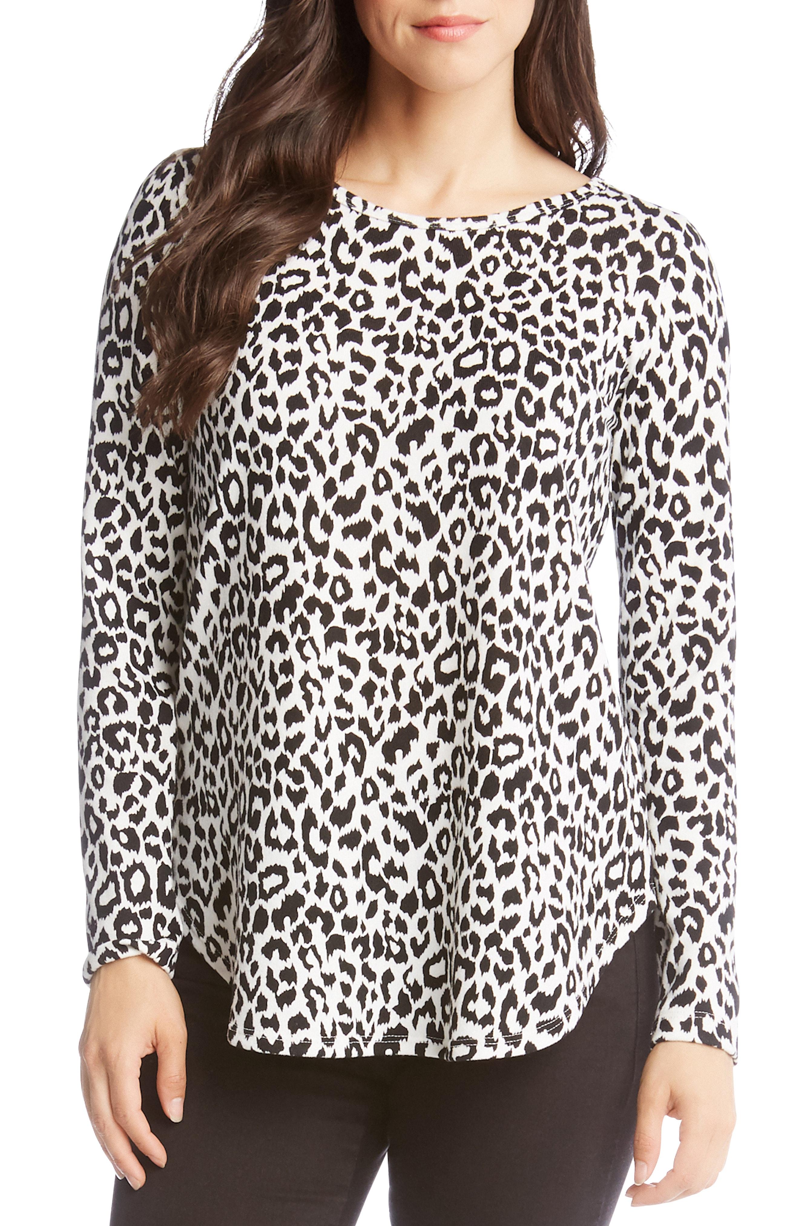 Karen Kane Leopard Print Top