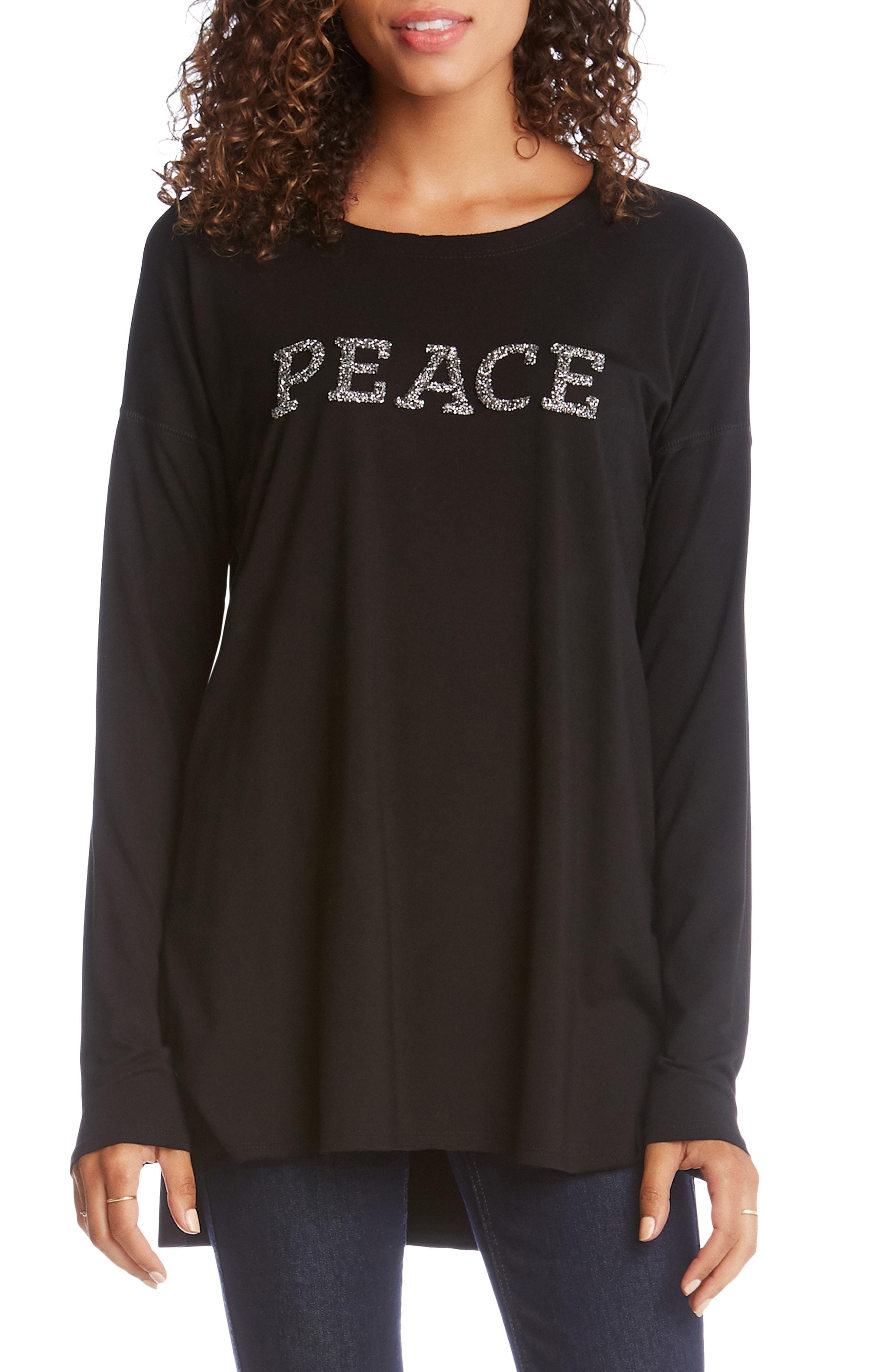 Karen Kane Peace High/Low Top