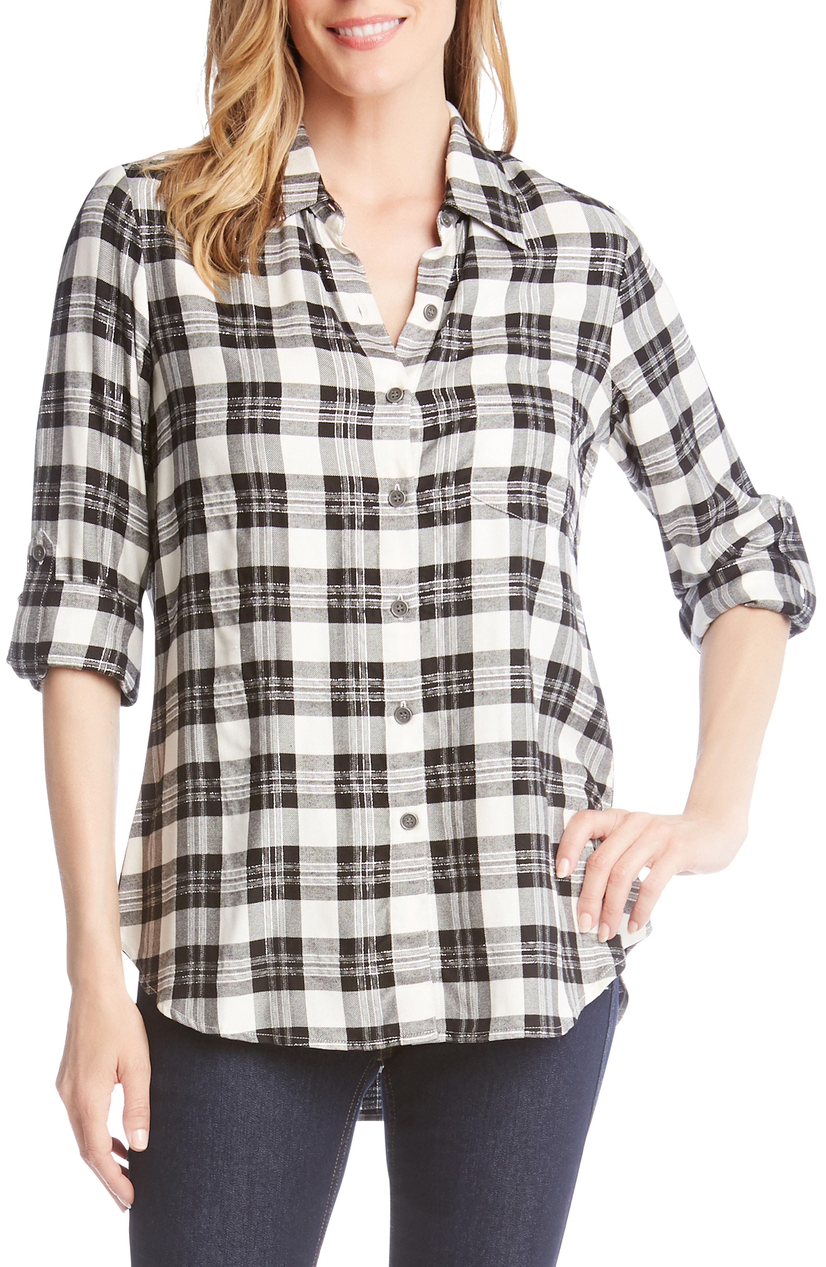 Karen Kane Plaid Shirt