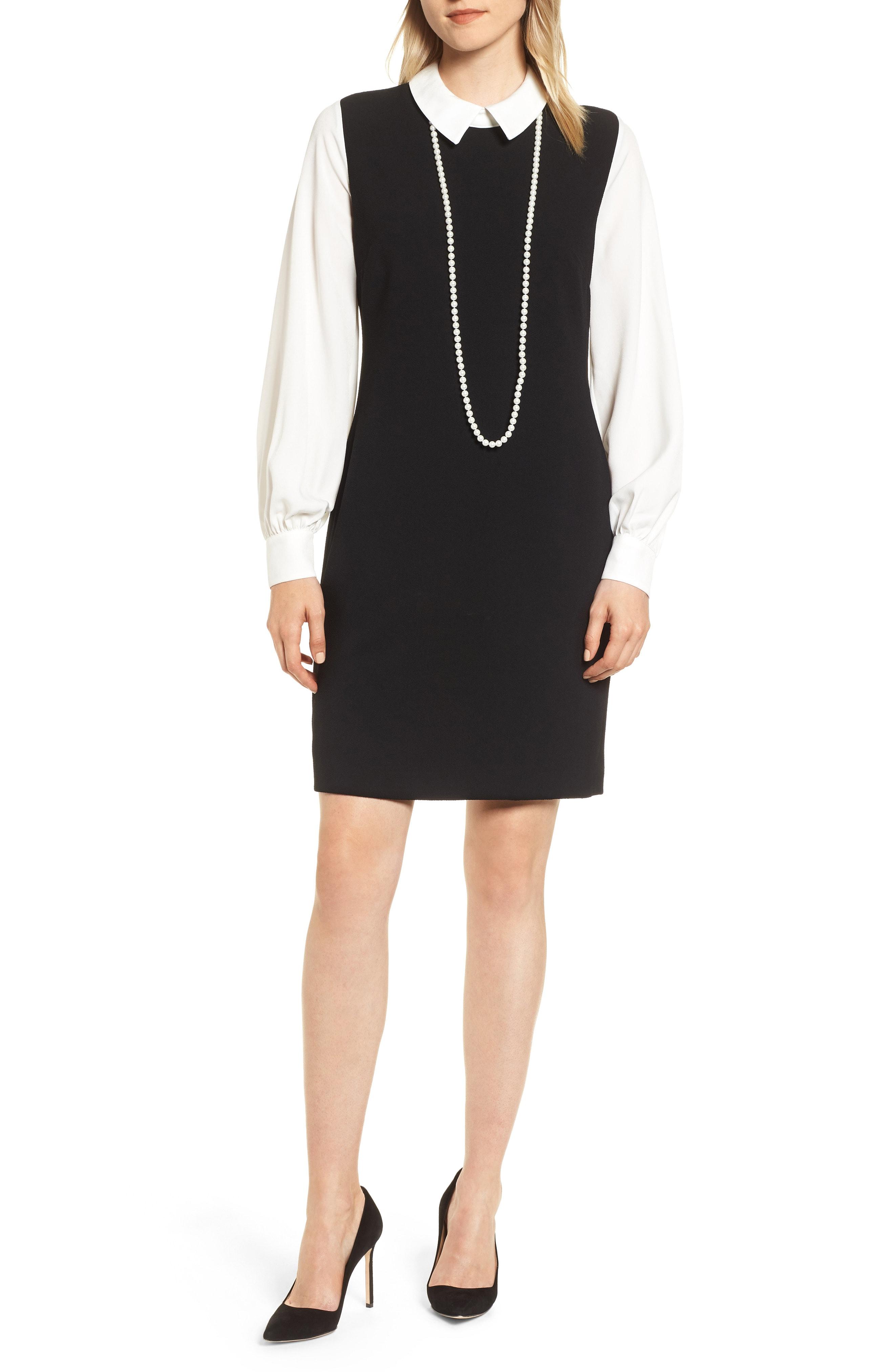 KARL LAGERFELD PARIS String of Faux Pearls Dress