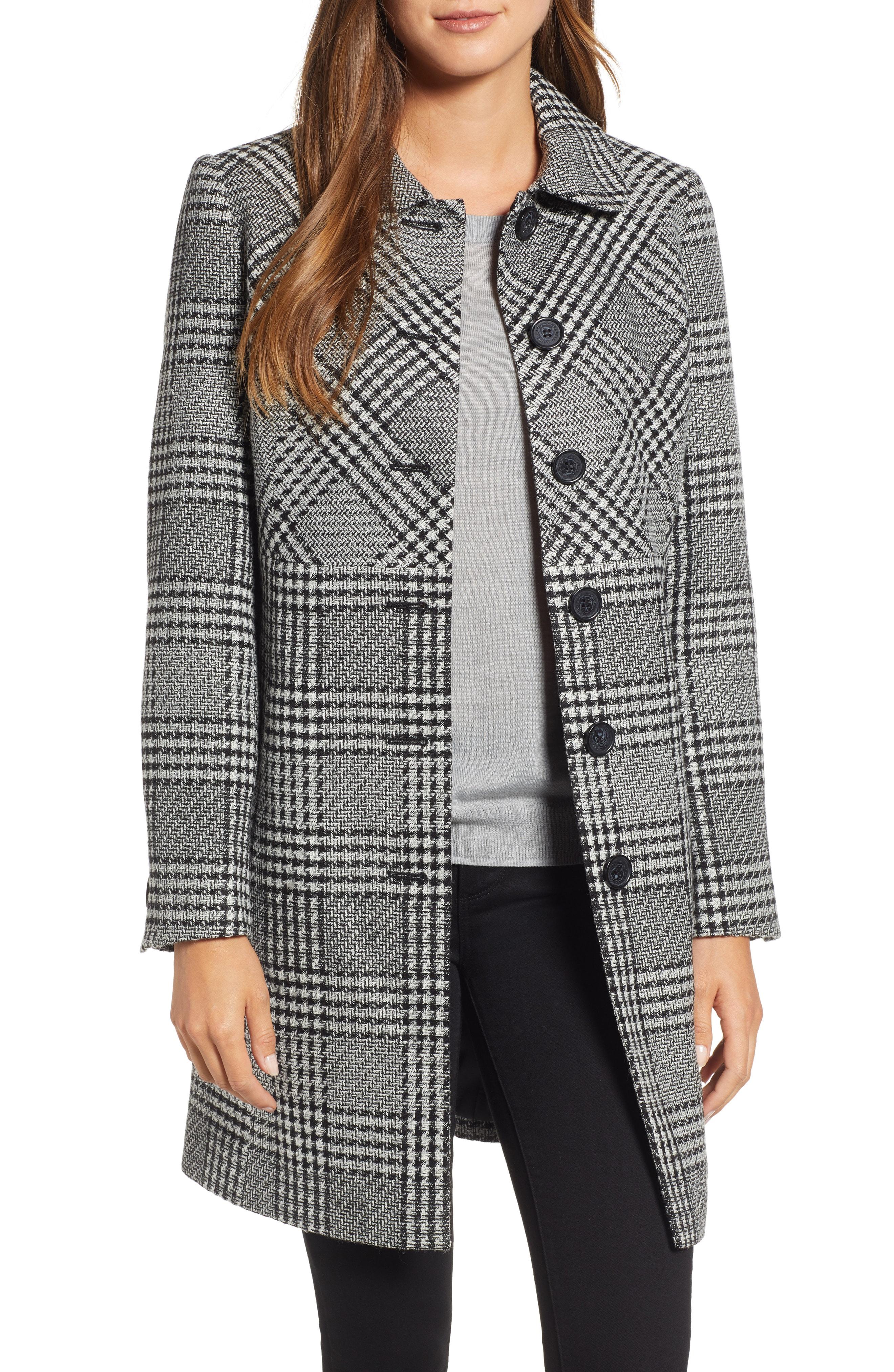 KARL LAGERFELD PARIS Tweed Topper Coat