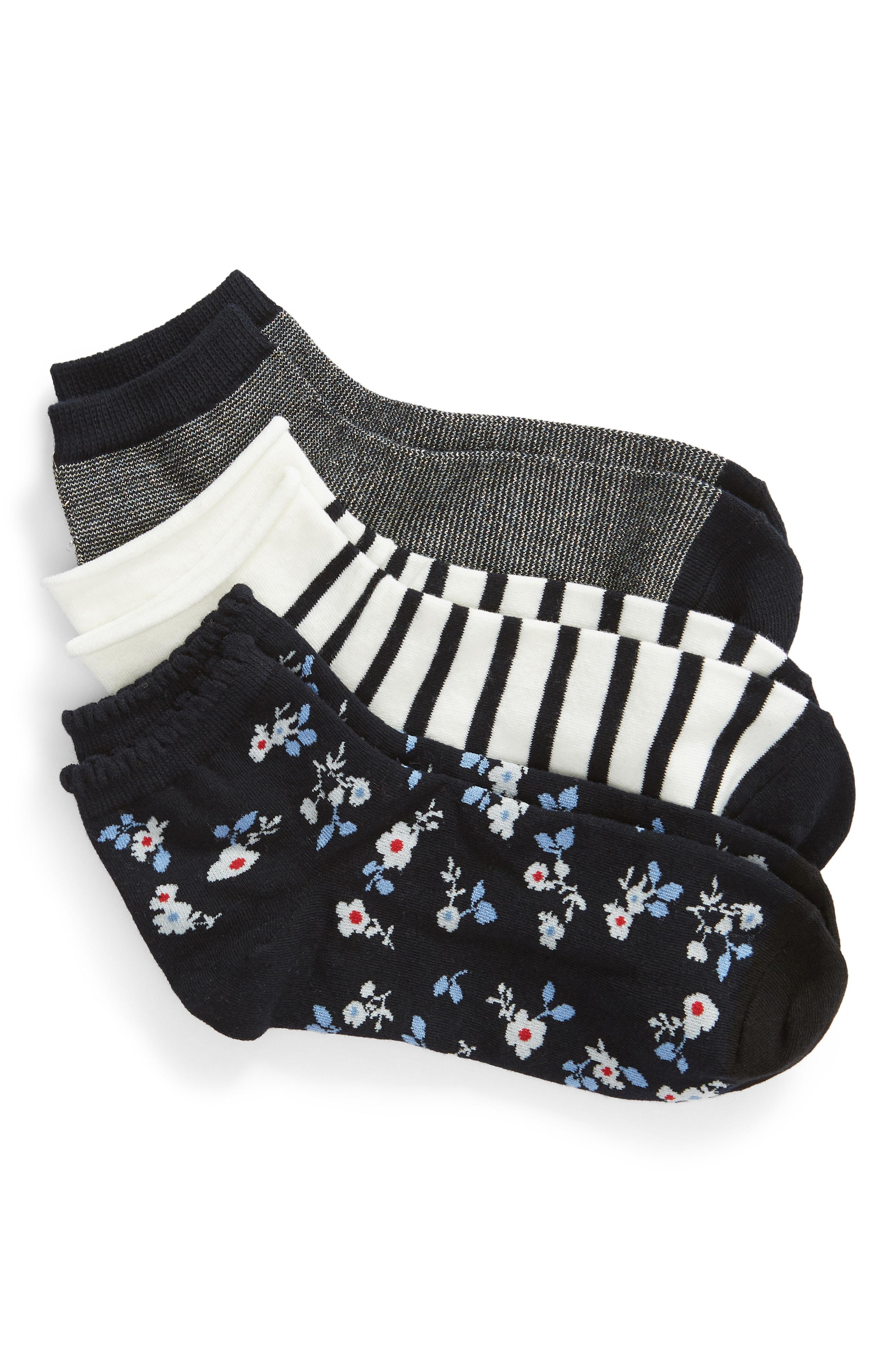 kate spade new york 3-pack anklet socks
