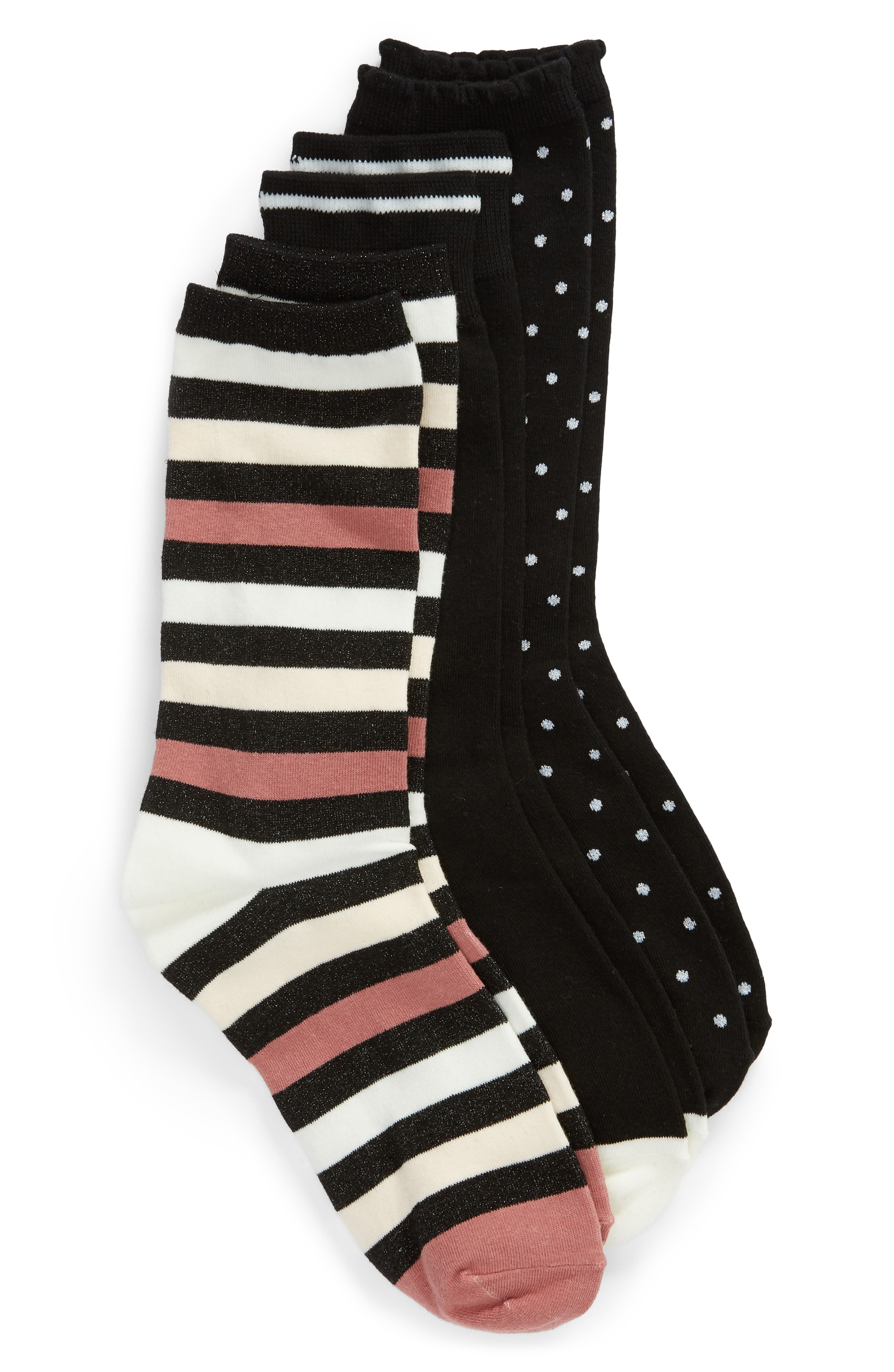 kate spade new york 3-pack crew socks