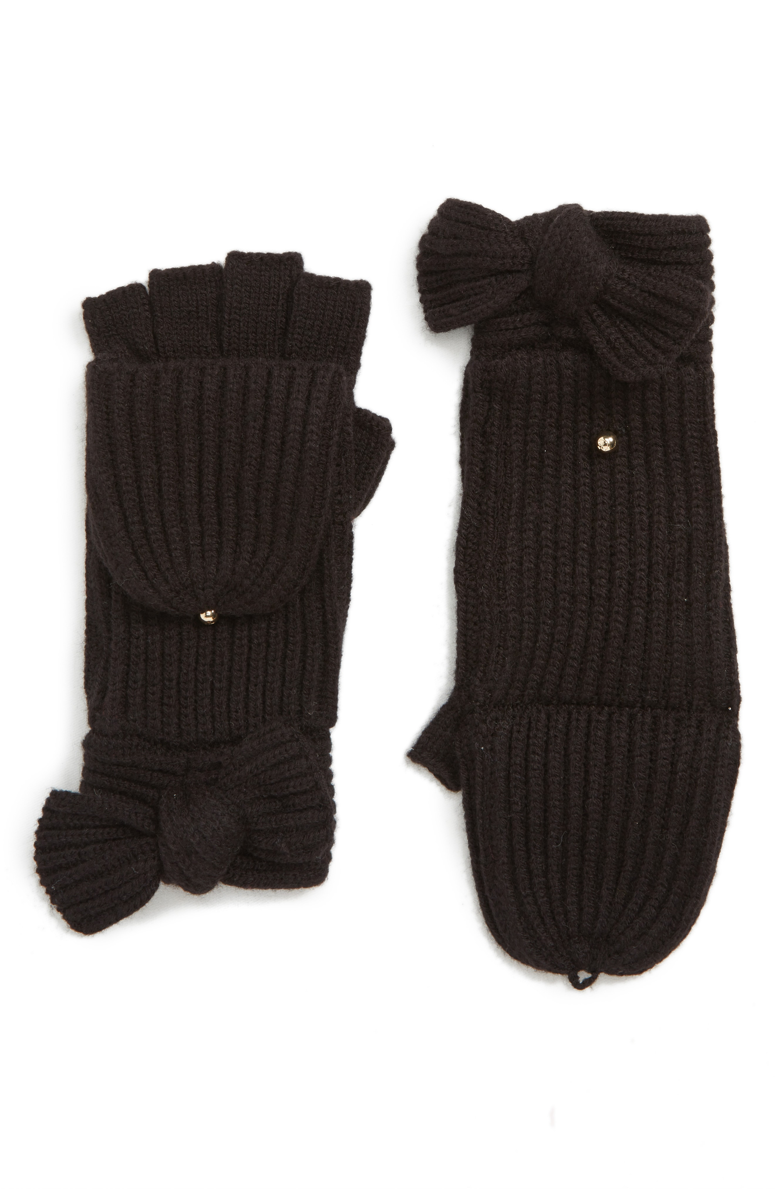 kate spade new york bow convertible mittens