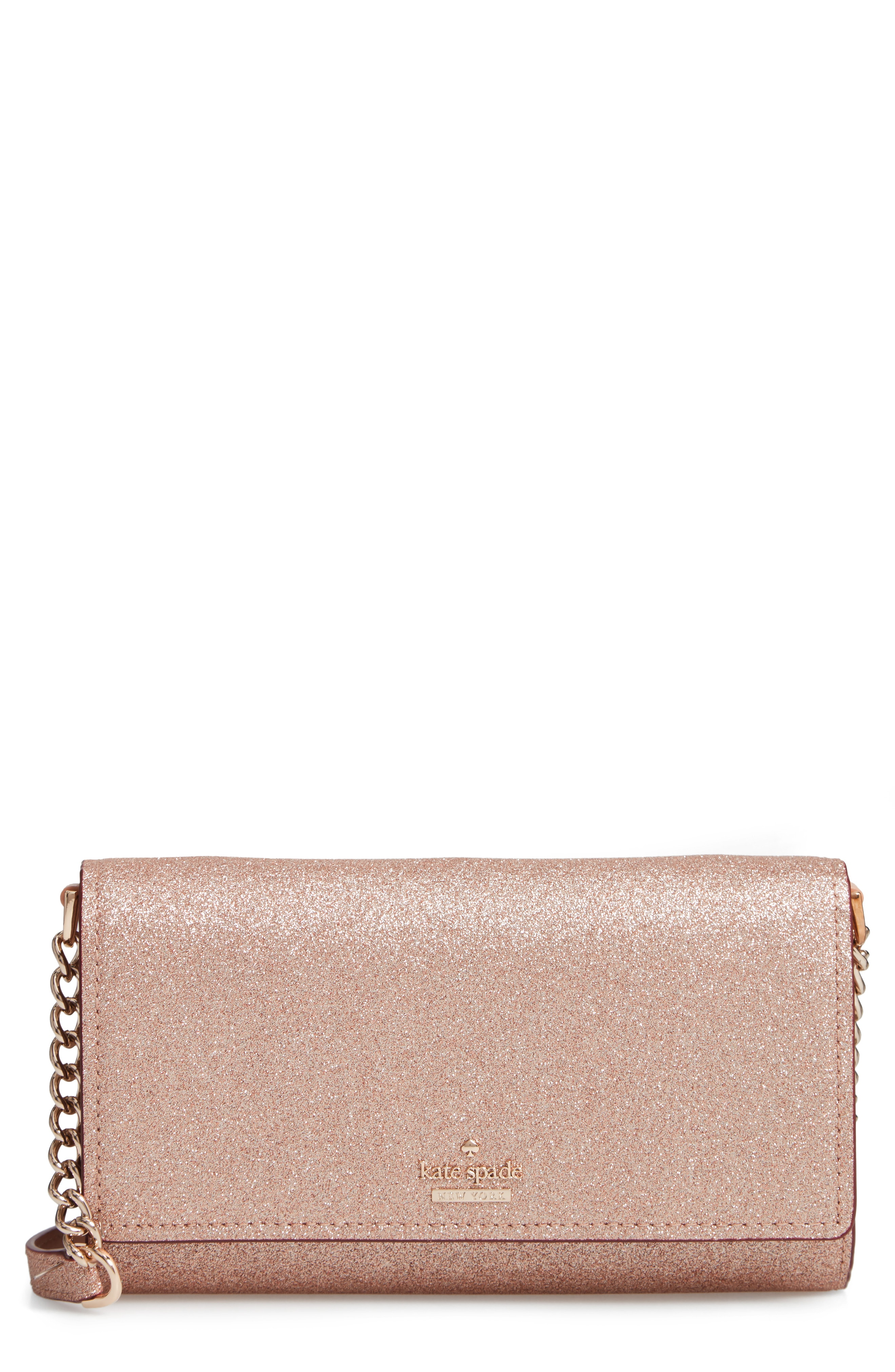 kate spade new york burgess court - glitter corin crossbody bag
