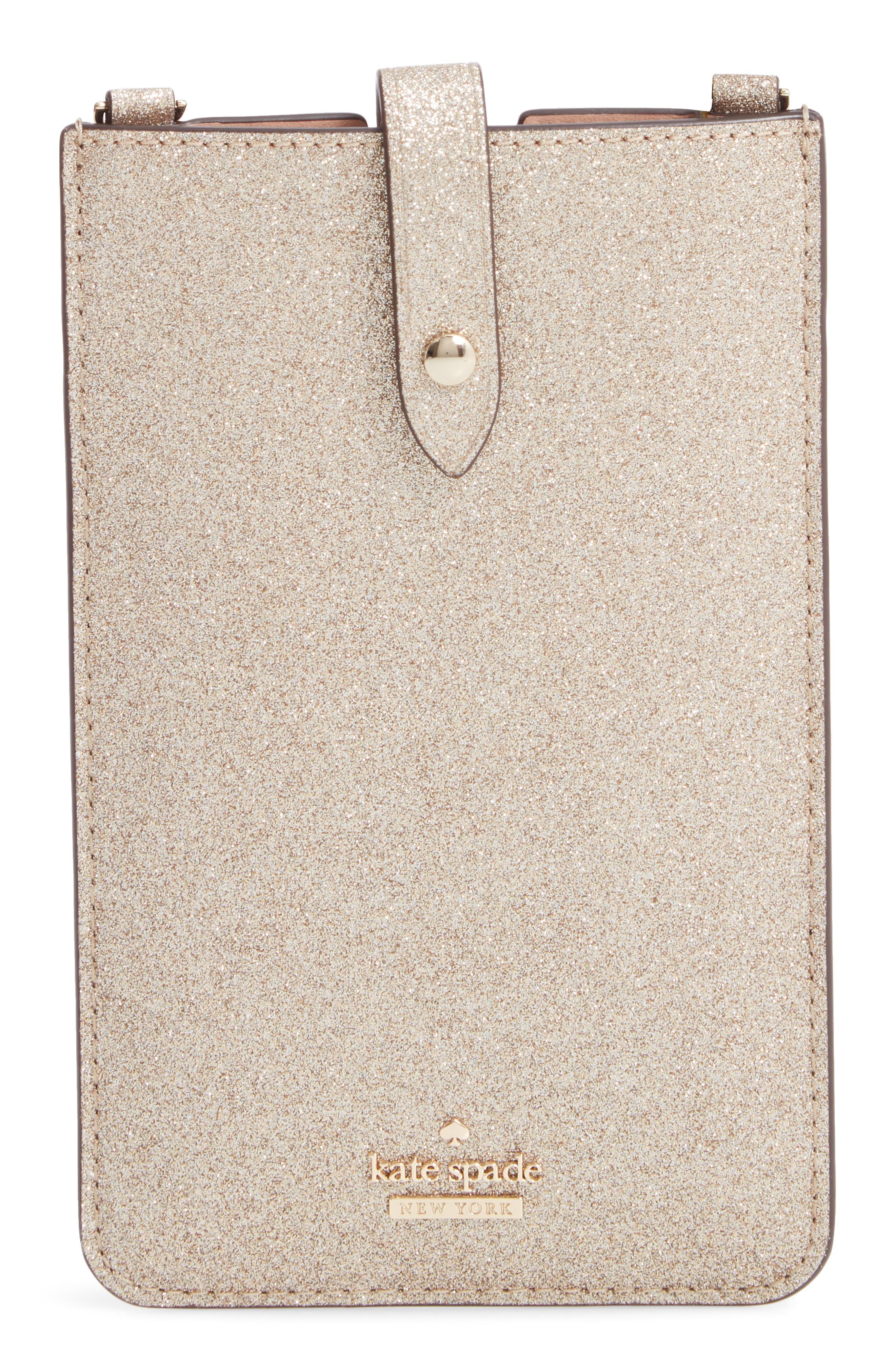 kate spade new york glitter leather iPhone crossbody case