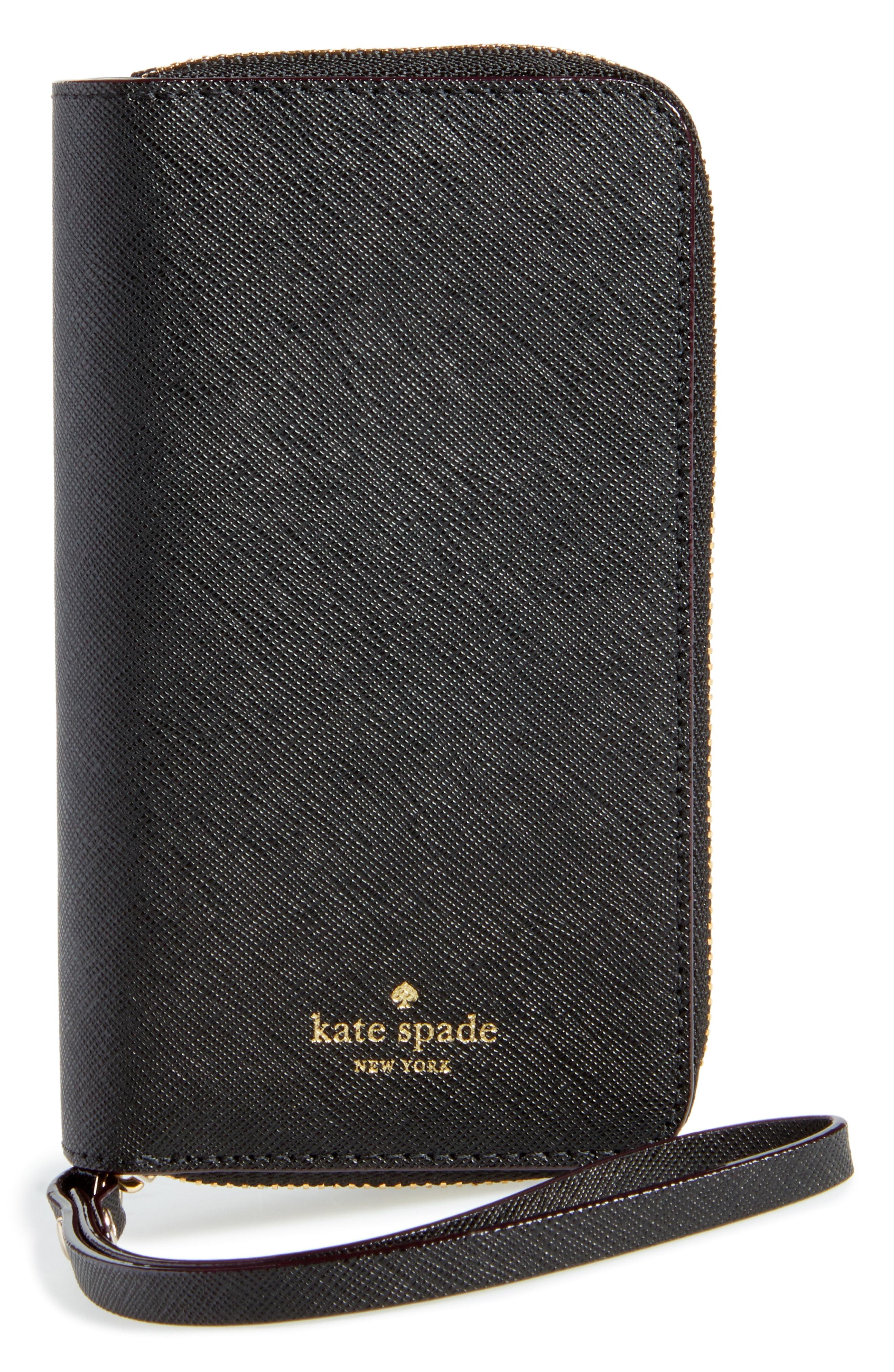 kate spade new york iPhone X/Xs leather folio wristlet