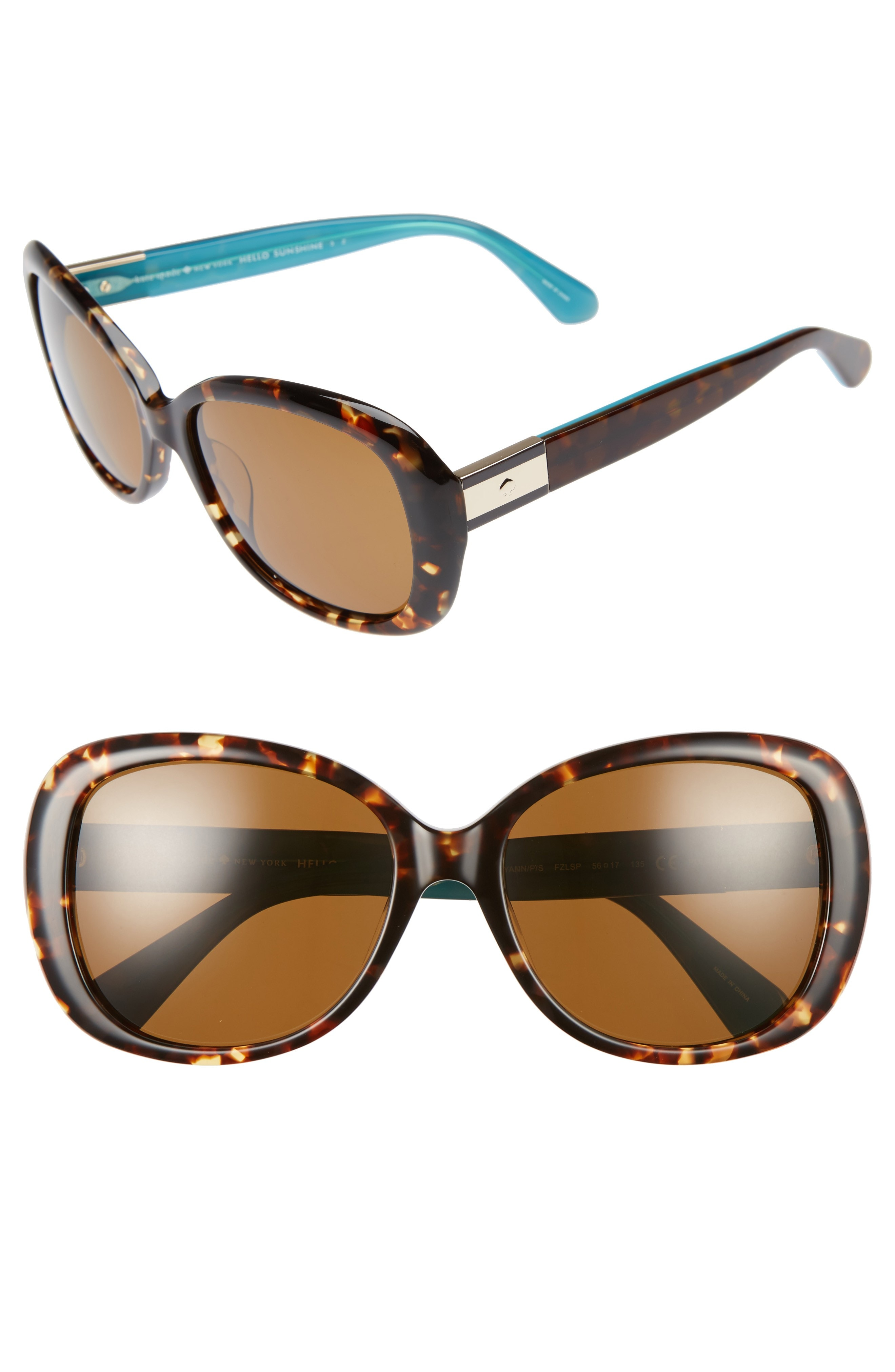 kate spade new york judyann 56mm polarized sunglasses