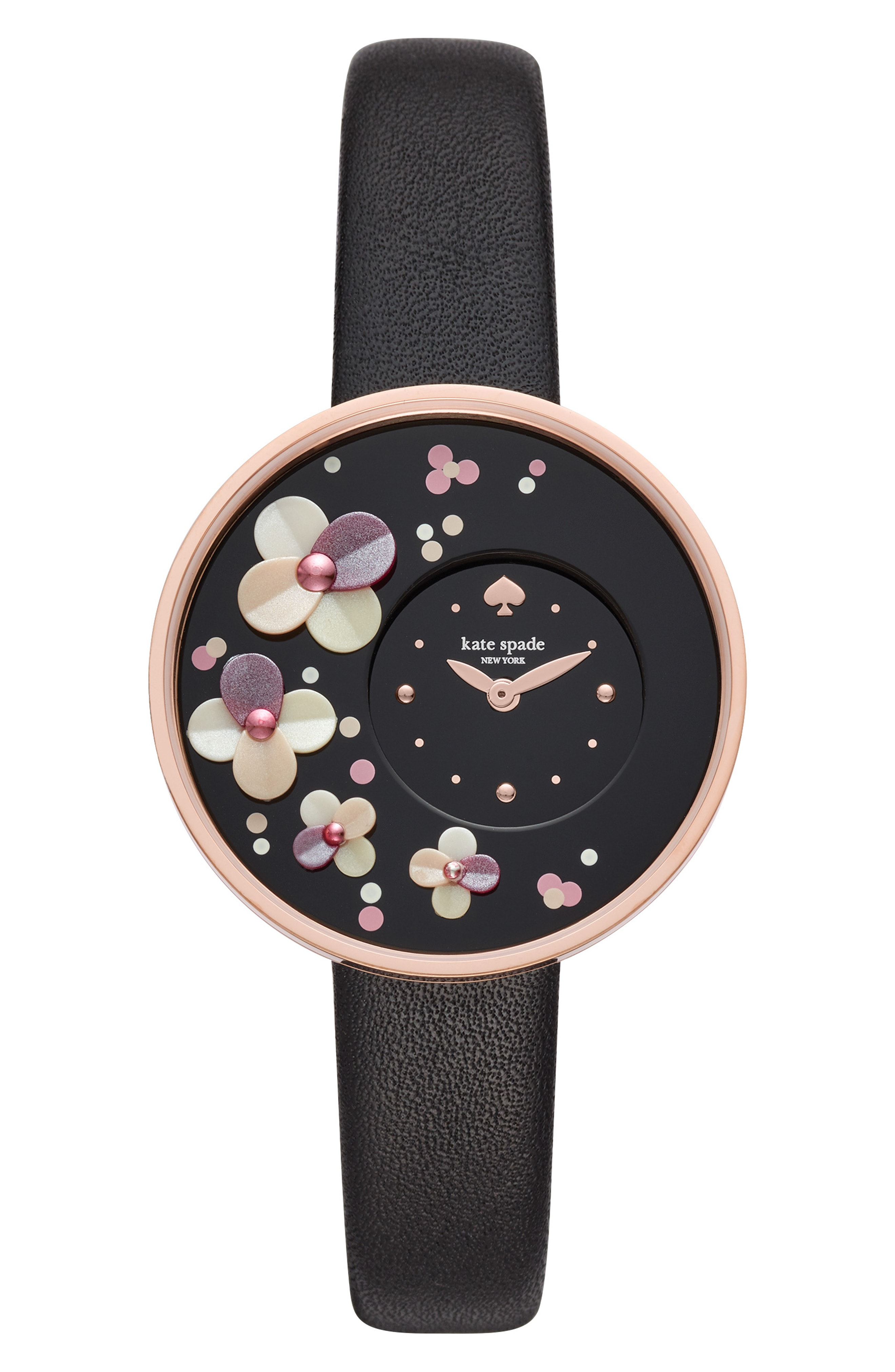 kate spade new york metro leather strap watch, 36mm