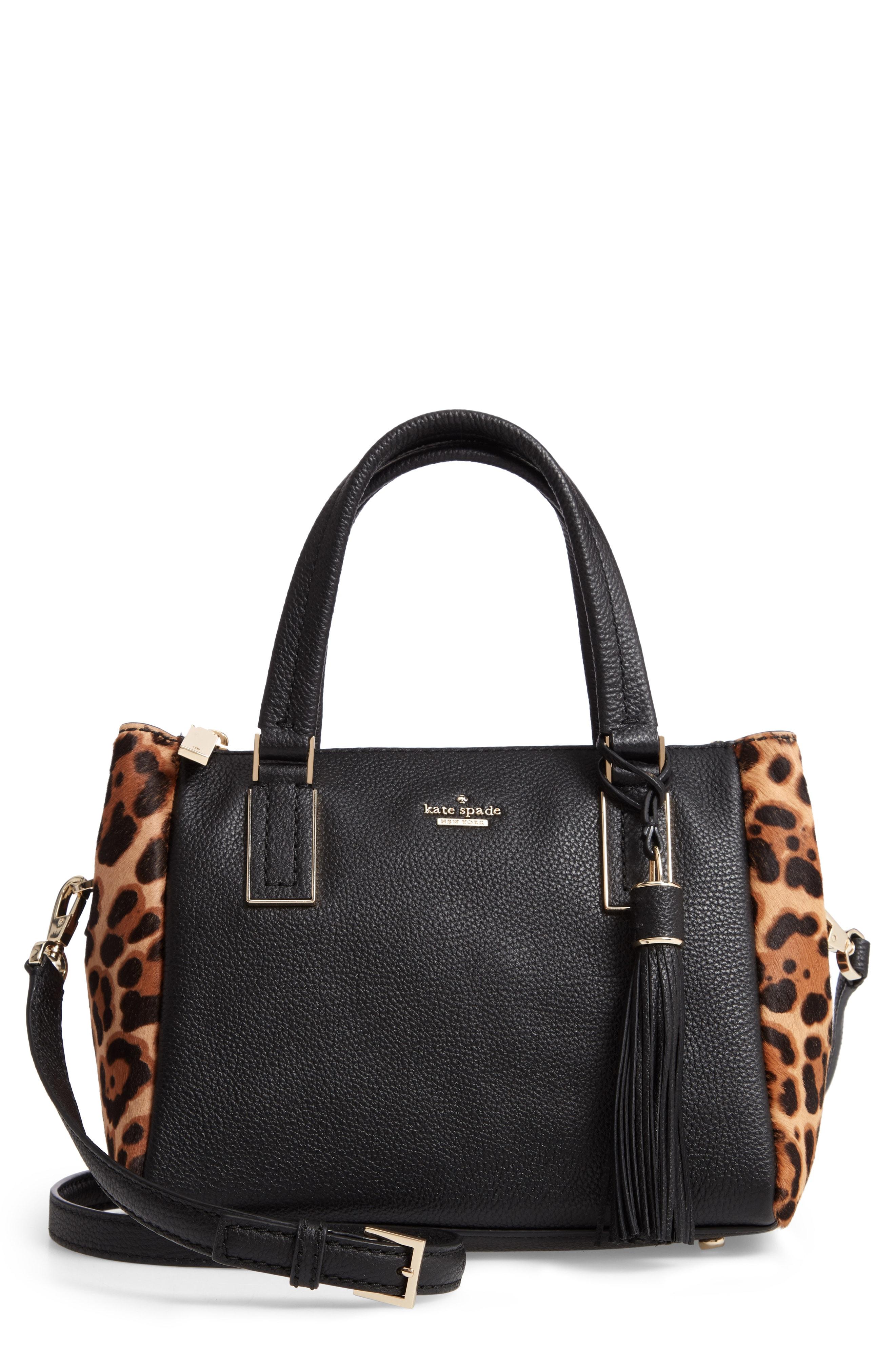 kate spade new york small kingston drive - alena genuine calf hair & leather satchel