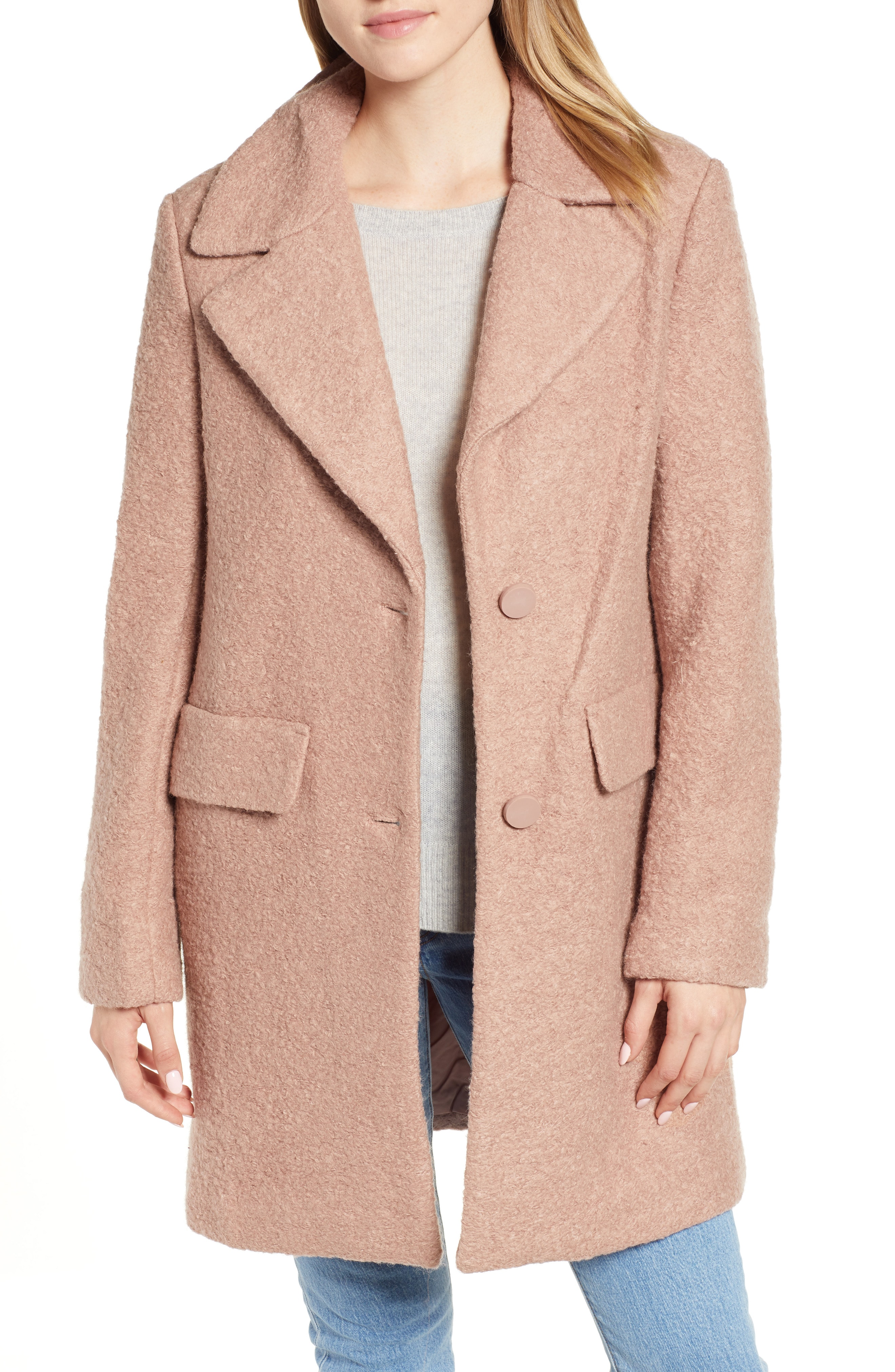 Kenneth Cole New York Wool Blend Boucl Coat
