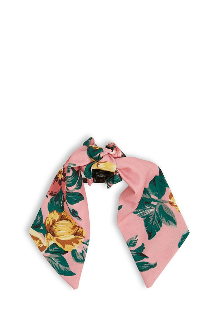 F21 Knotted Floral Print Clip