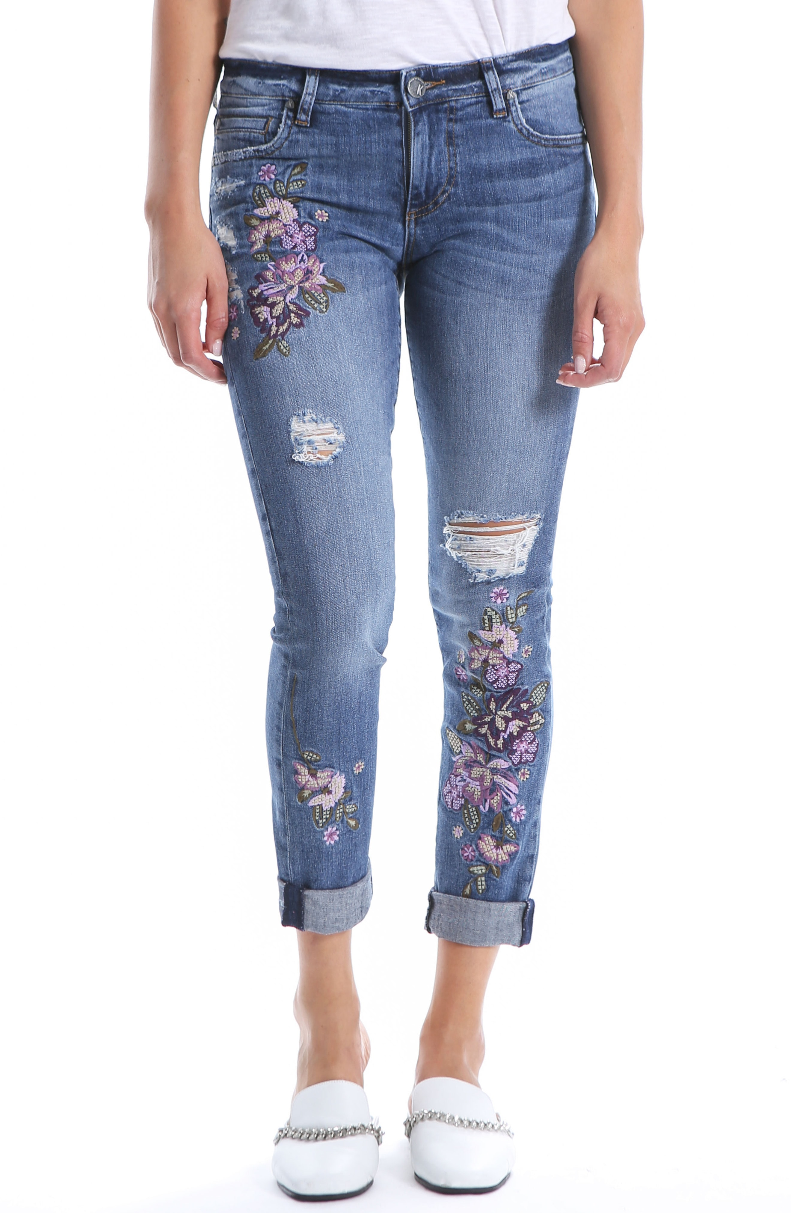 Kut from the Kloth Catherine Floral Boyfriend Jeans (Solution)