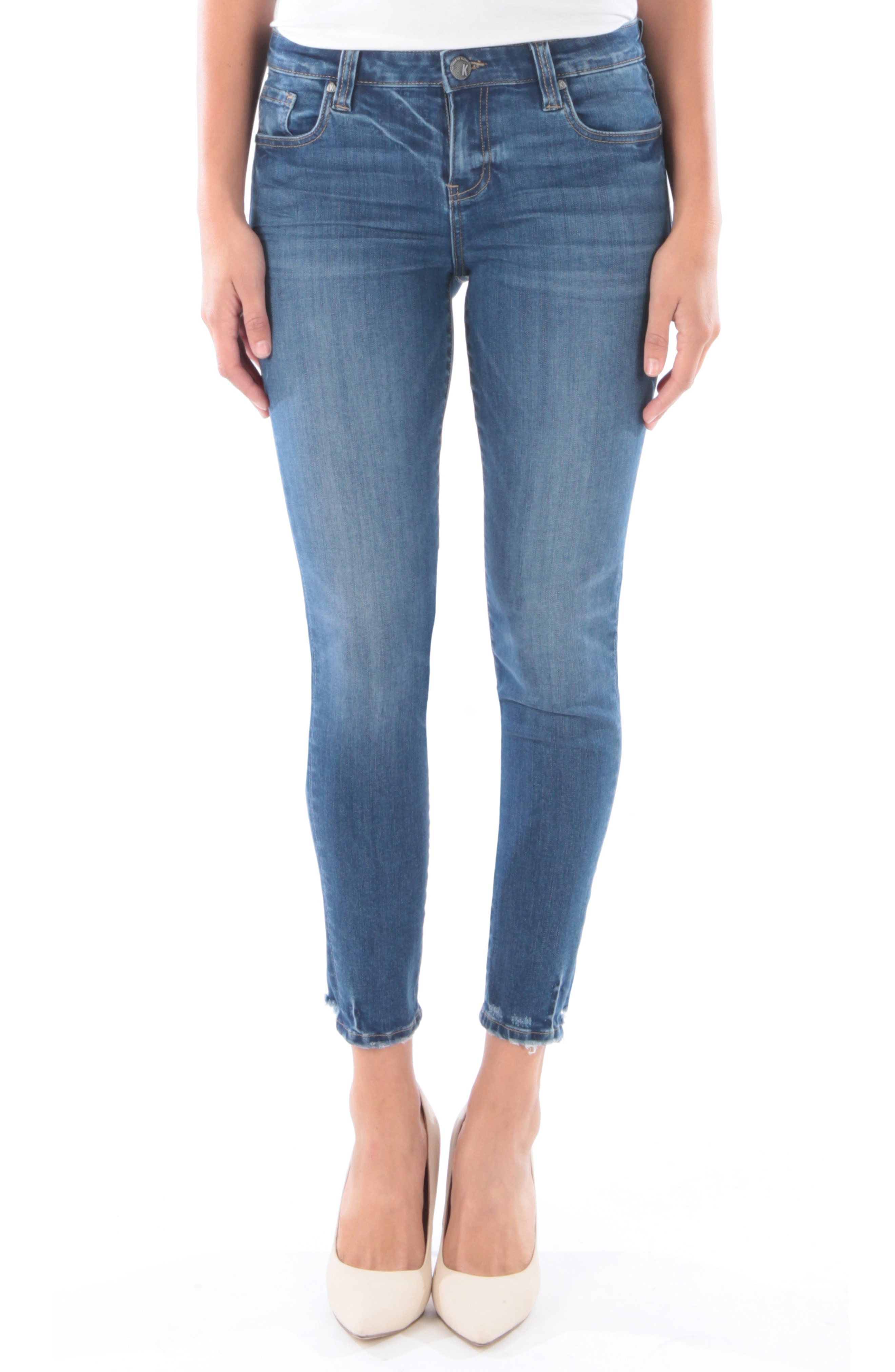 KUT from the Kloth Donna Ankle Skinny Jeans (Finding)