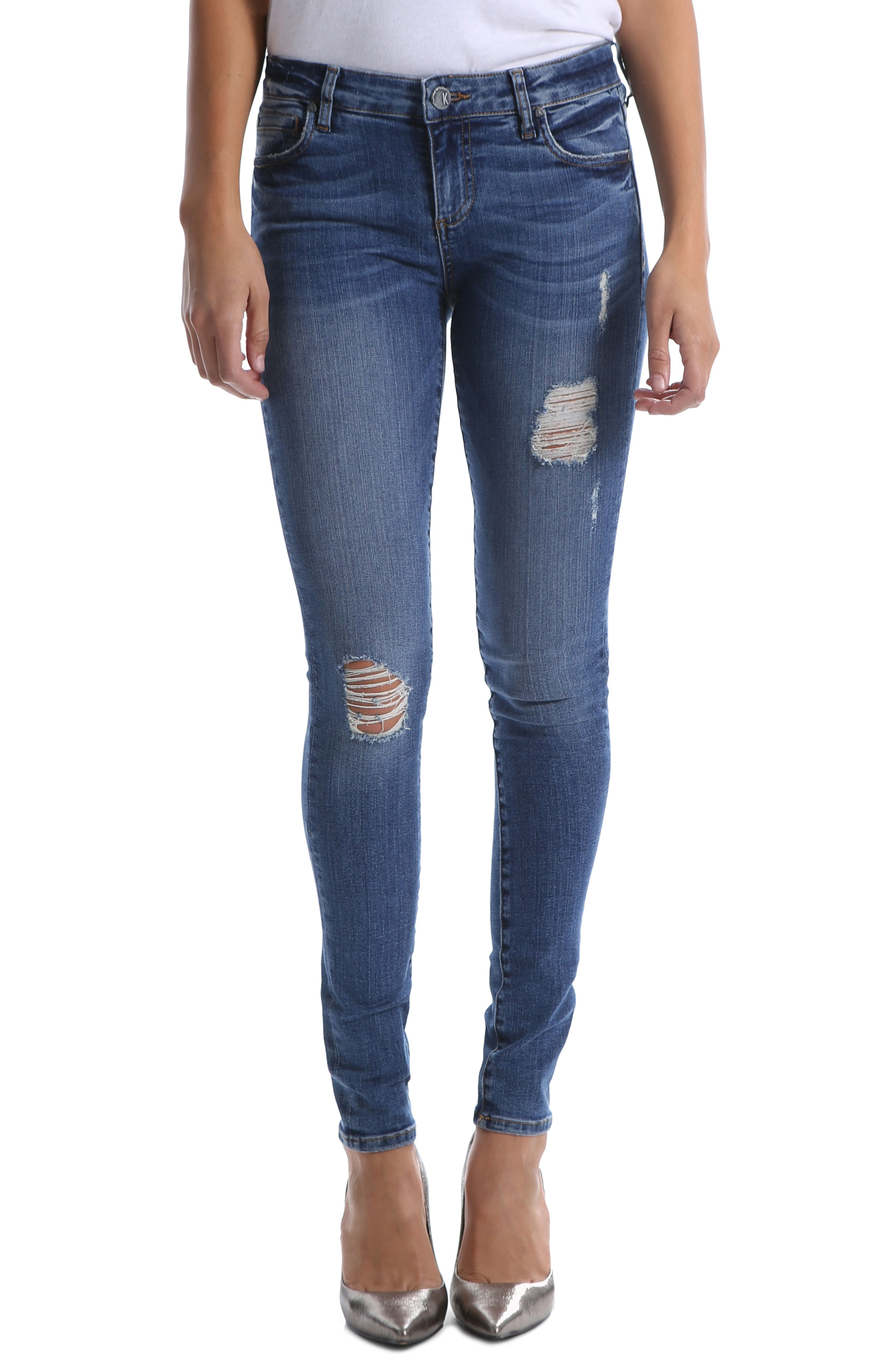 KUT from the Kloth Mia Ripped Toothpick Skinny Jeans (Massive)