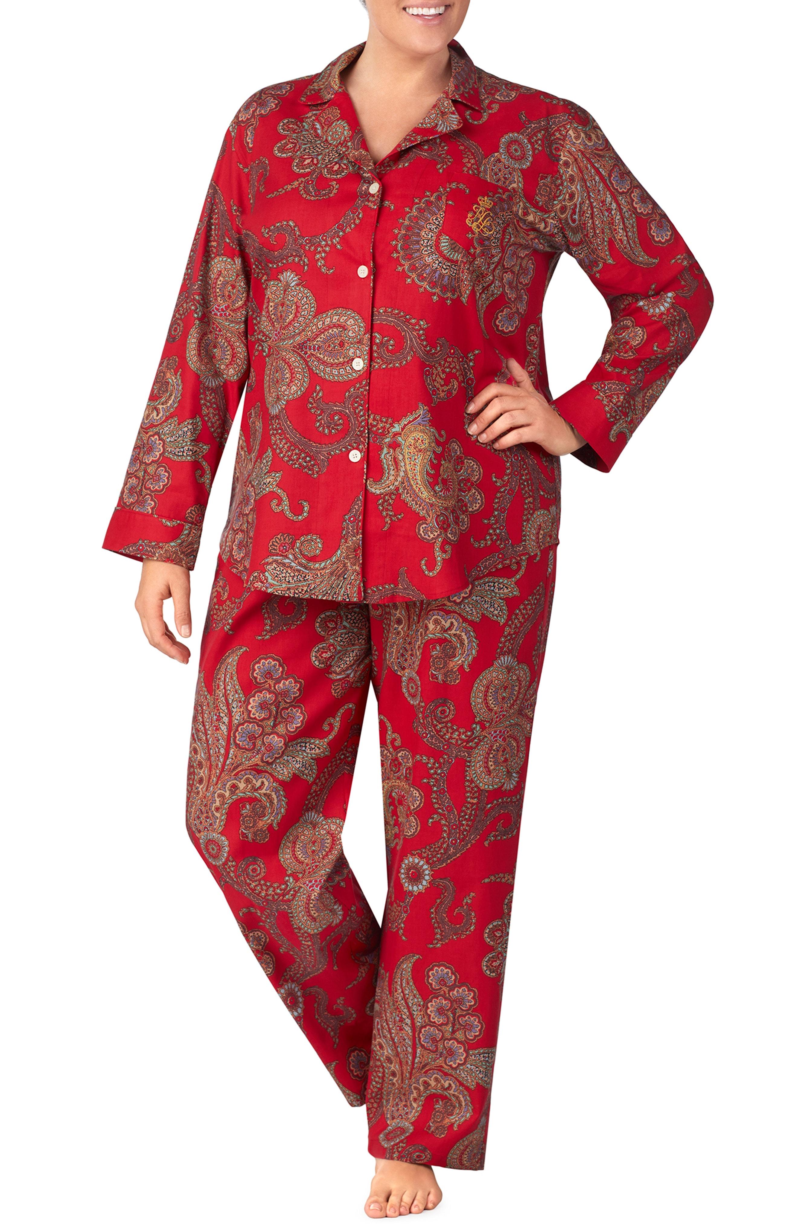 Lauren Ralph Lauren Flannel Pajamas (Plus Size)
